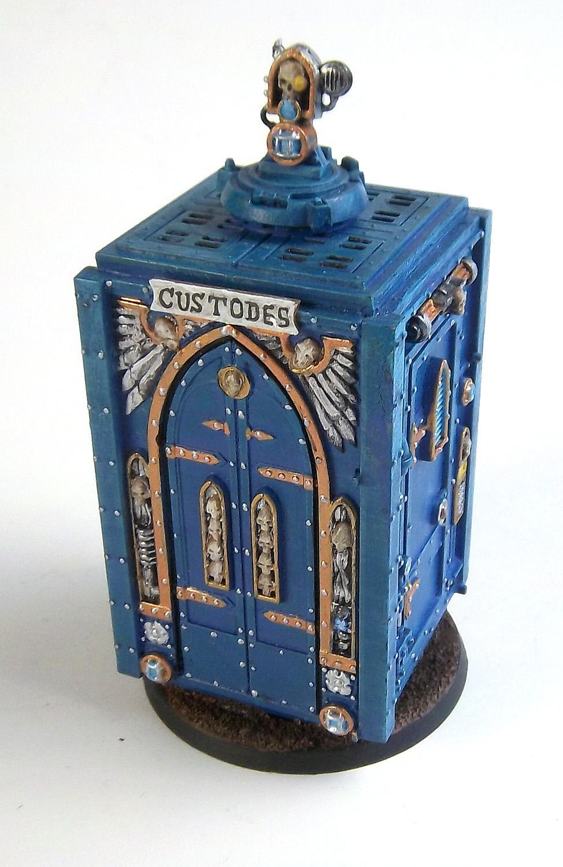 Adeptus Arbites, Blue Box, Crazy Man, Custodes, Doctor, Dr Who, Police Box, Tardis, Who
