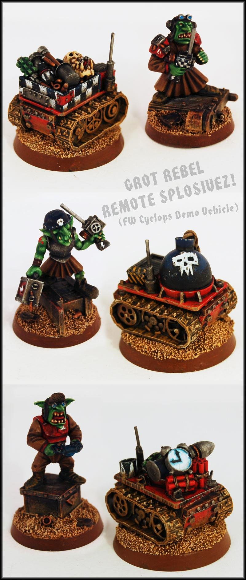 Bomb, Bomb Squig, Cyclops, Demolition Charge, Explosive, Explosives, Forge World, Goblins, Greenskin, Gretchin, Grots, Kromlech, Orcs, Orks