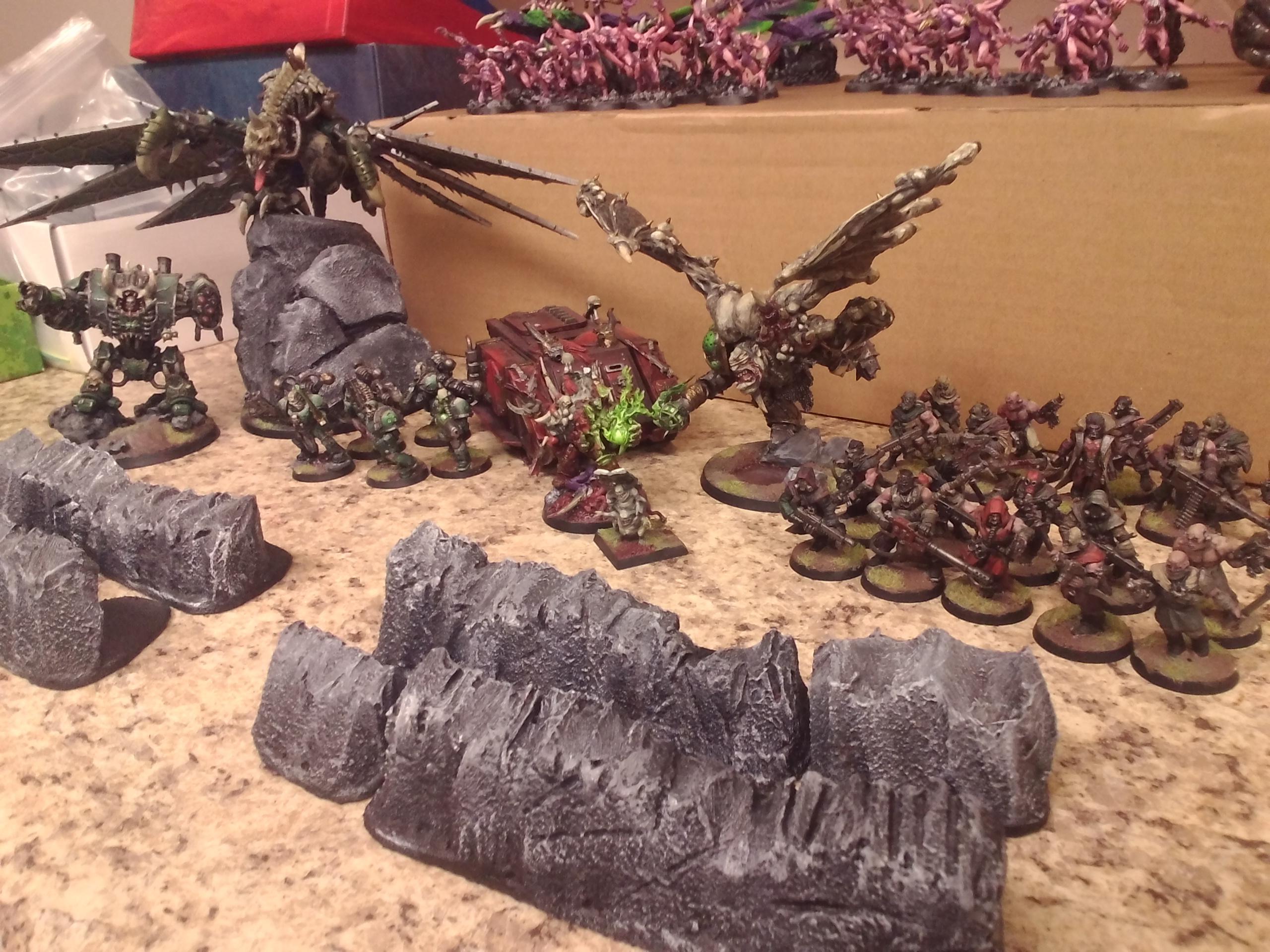 Battle, Game, 2000 pt chaos army (CSM)