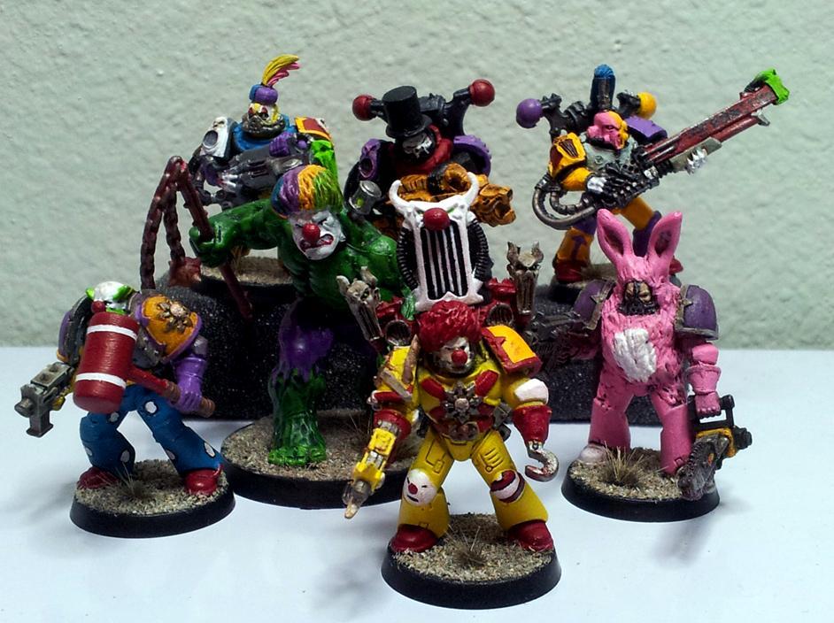 Clowns, Dafuq, Kill Team, Noise Marines, Ronald Mcdonald, Slaanesh Noise Marines