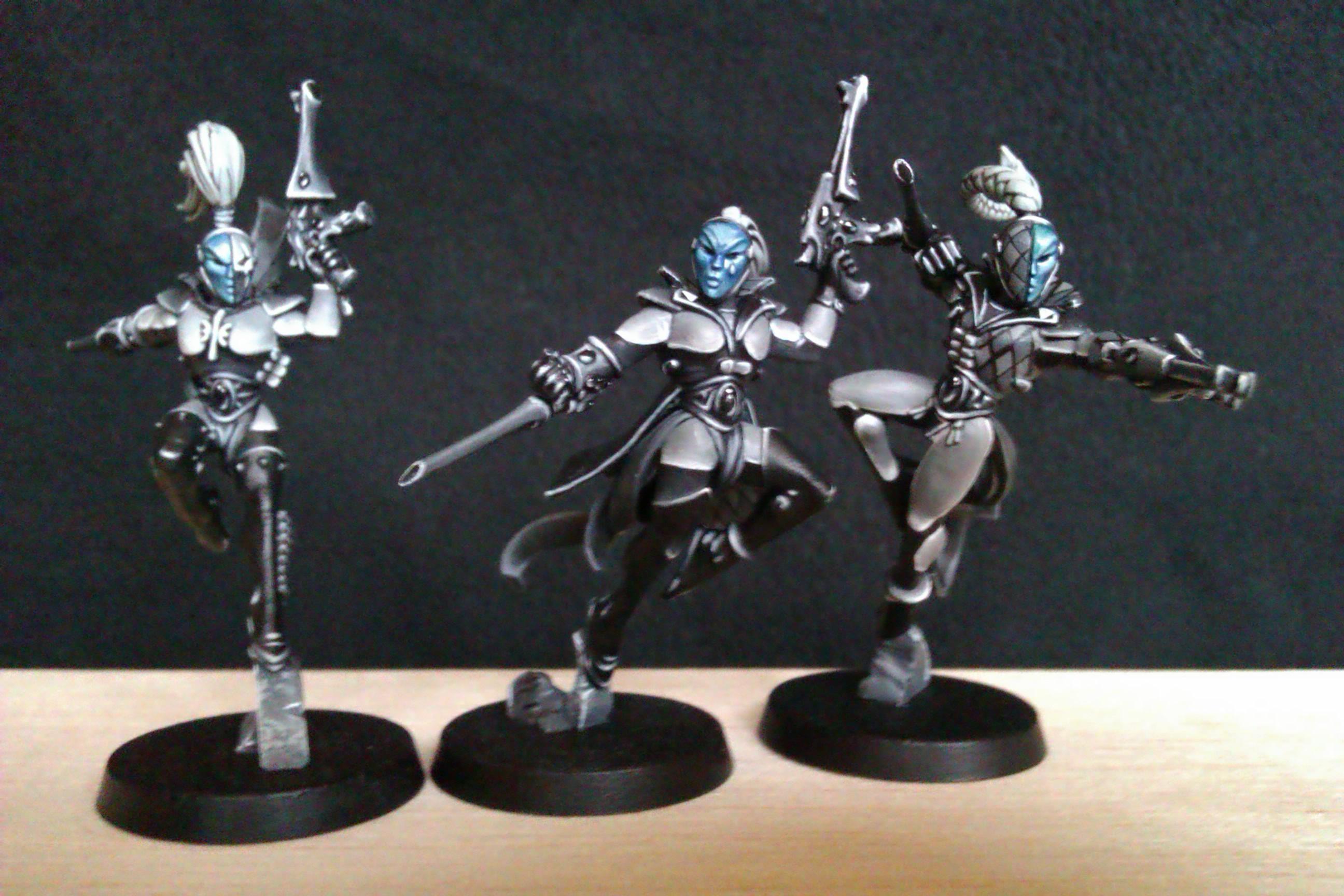Eldar, Greyscale, Harlequins, Warhammer 40,000
