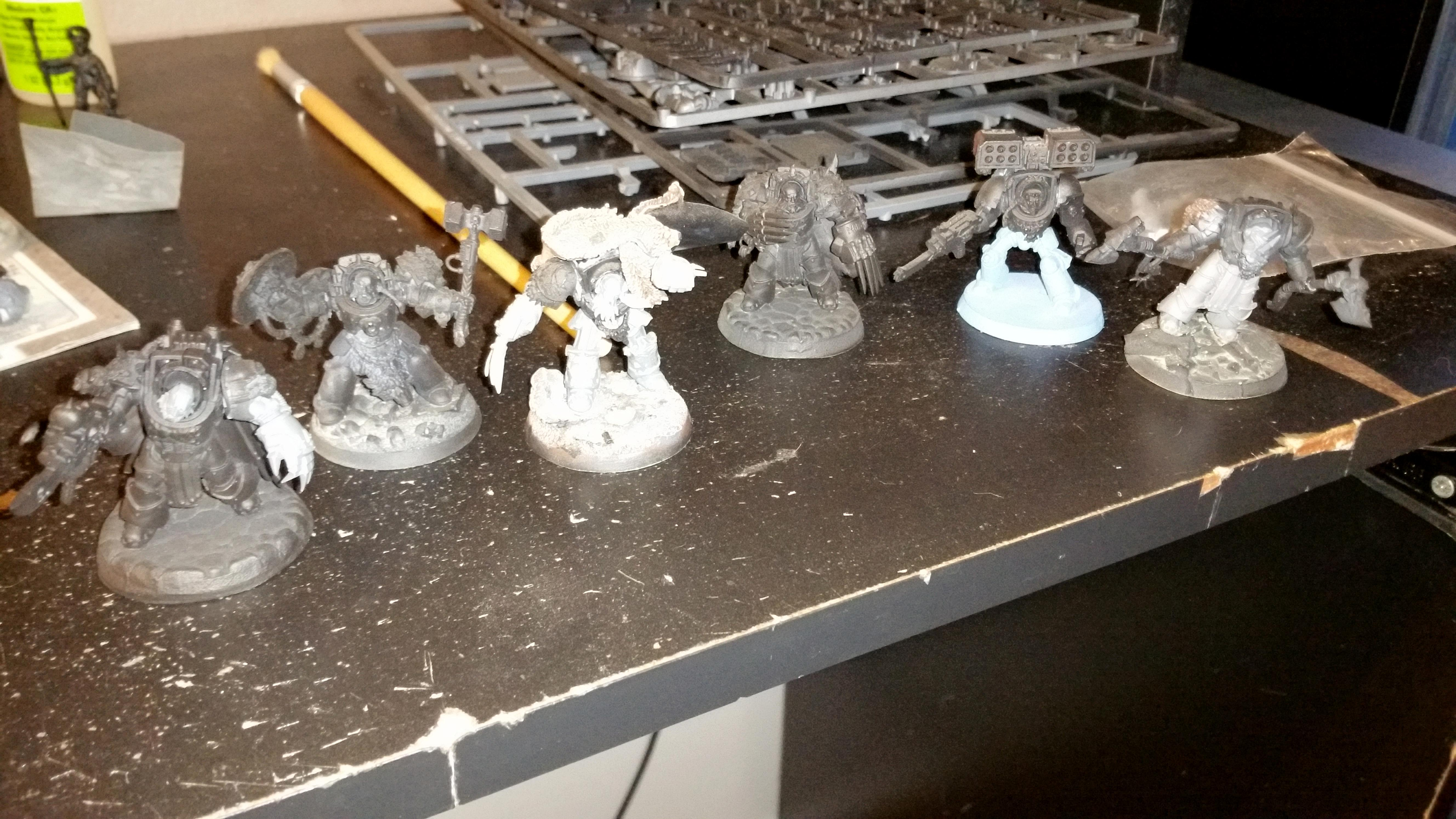 Space Wolves, Terminator Armor, Vlka Fenryka, Wolf Guard