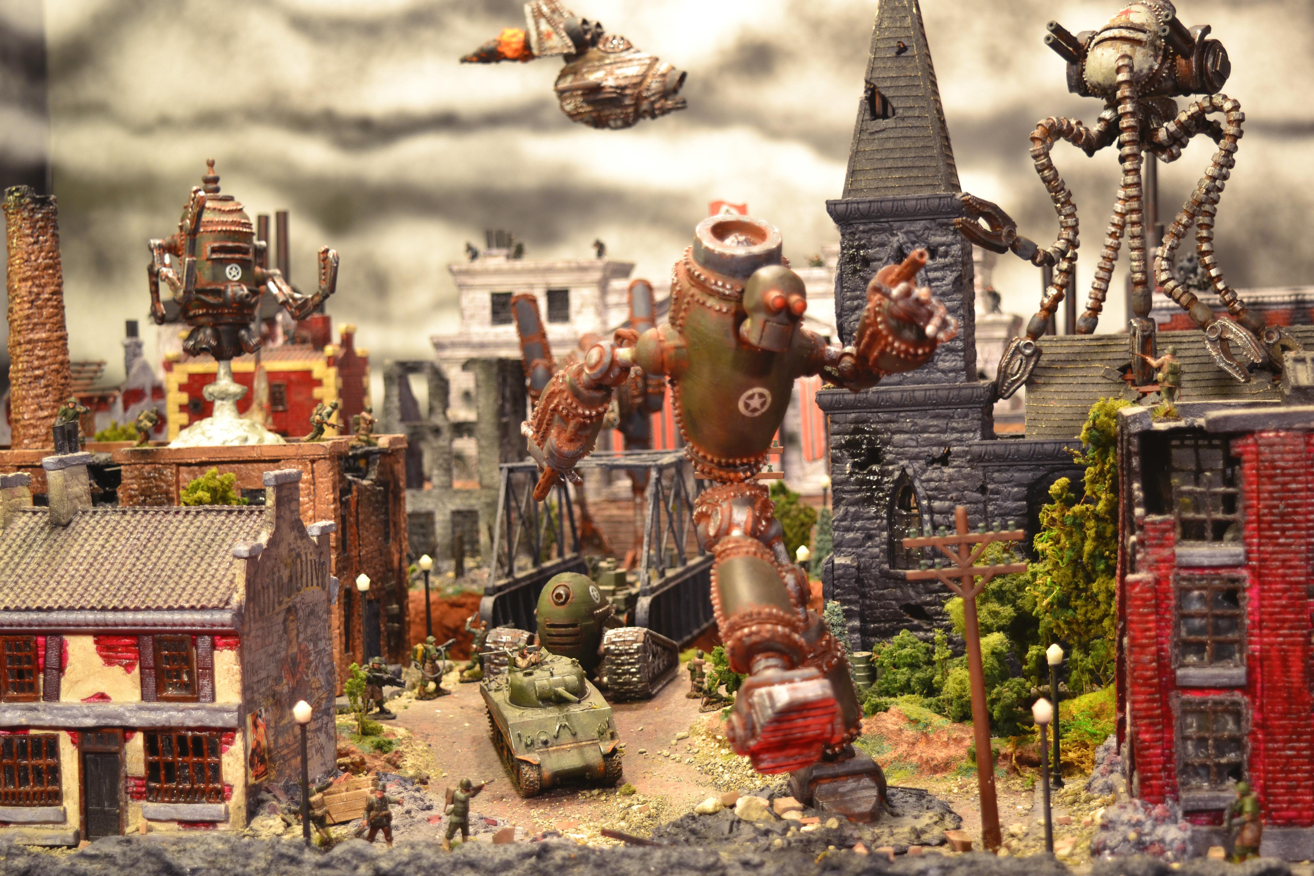 Dieselpunk, Iron Giant, Robot, Steam Punk, Weird War Ii, World War 2