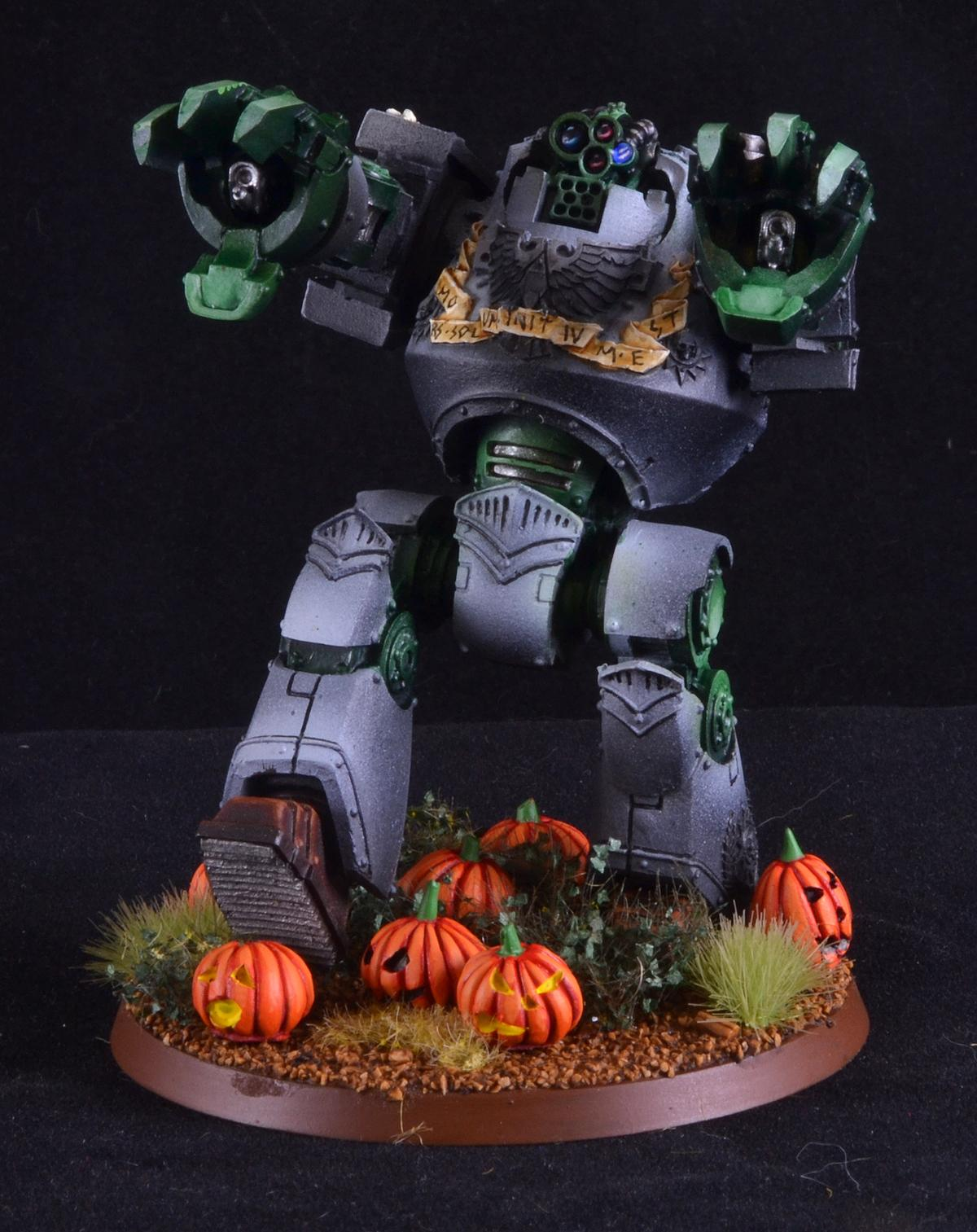Chaos, Contemptor, Counts As, Frankenstein's Monster, Halloween, Pumpkin, Warhammer 40,000