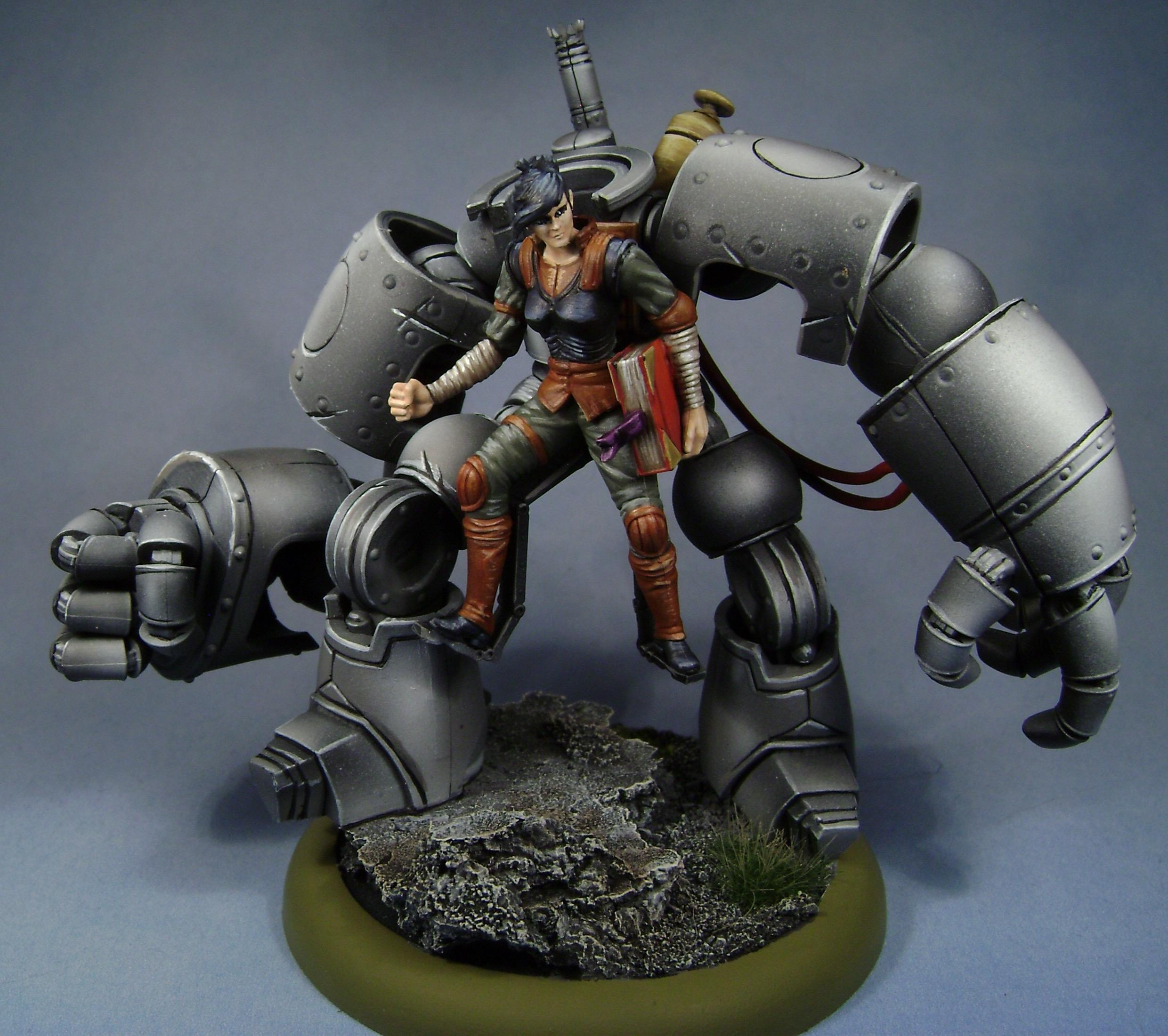 Freikorps, Hannah, Malifaux, Miniatures, Models, Non-Metallic Metal, Outcasts, Painted