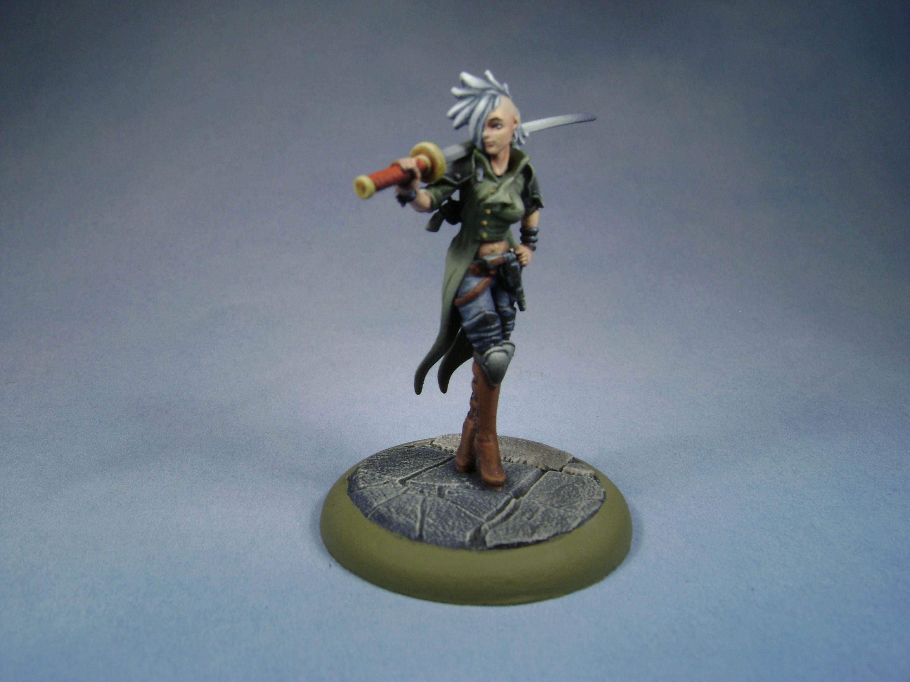 Malifaux, Miniatures, Models, Non-Metallic Metal, Outcasts, Painted, Sister, Viktoria, Viktoria Of Ashes