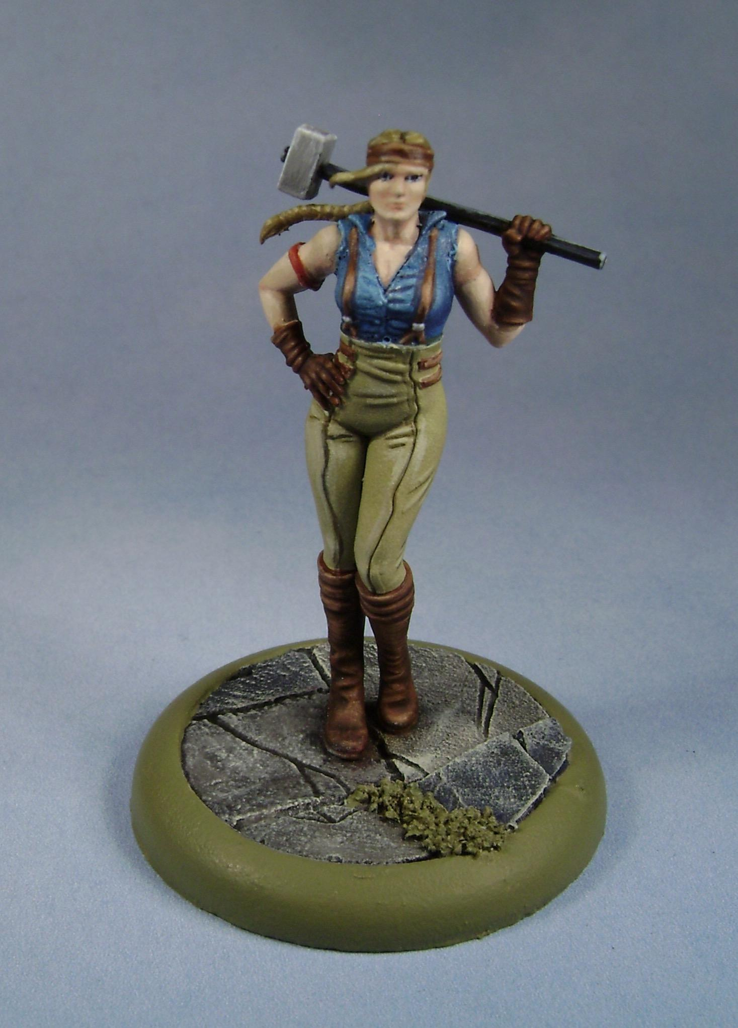 Johana, M&su, Malifaux, Miniatures, Models, Non-Metallic Metal, Outcasts, Painted