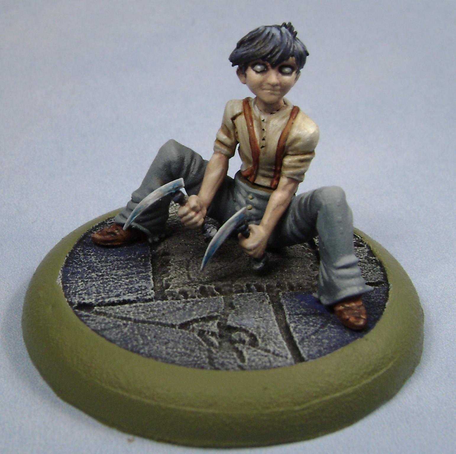 Malifaux, Malifaux Child, Miniatures, Models, Non-Metallic Metal, Outcasts, Painted, Totem
