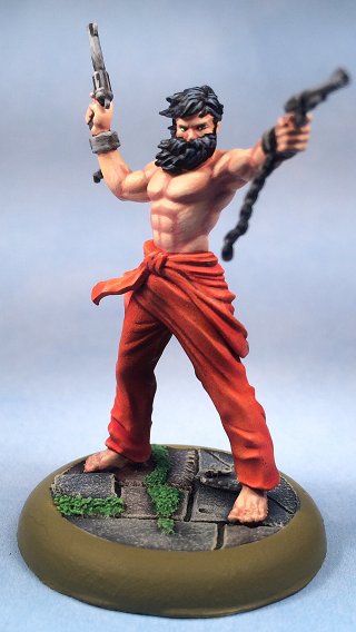 Convict Gunslinger, Malifaux, Miniatures, Models, Non-Metallic Metal, Outcasts, Painted
