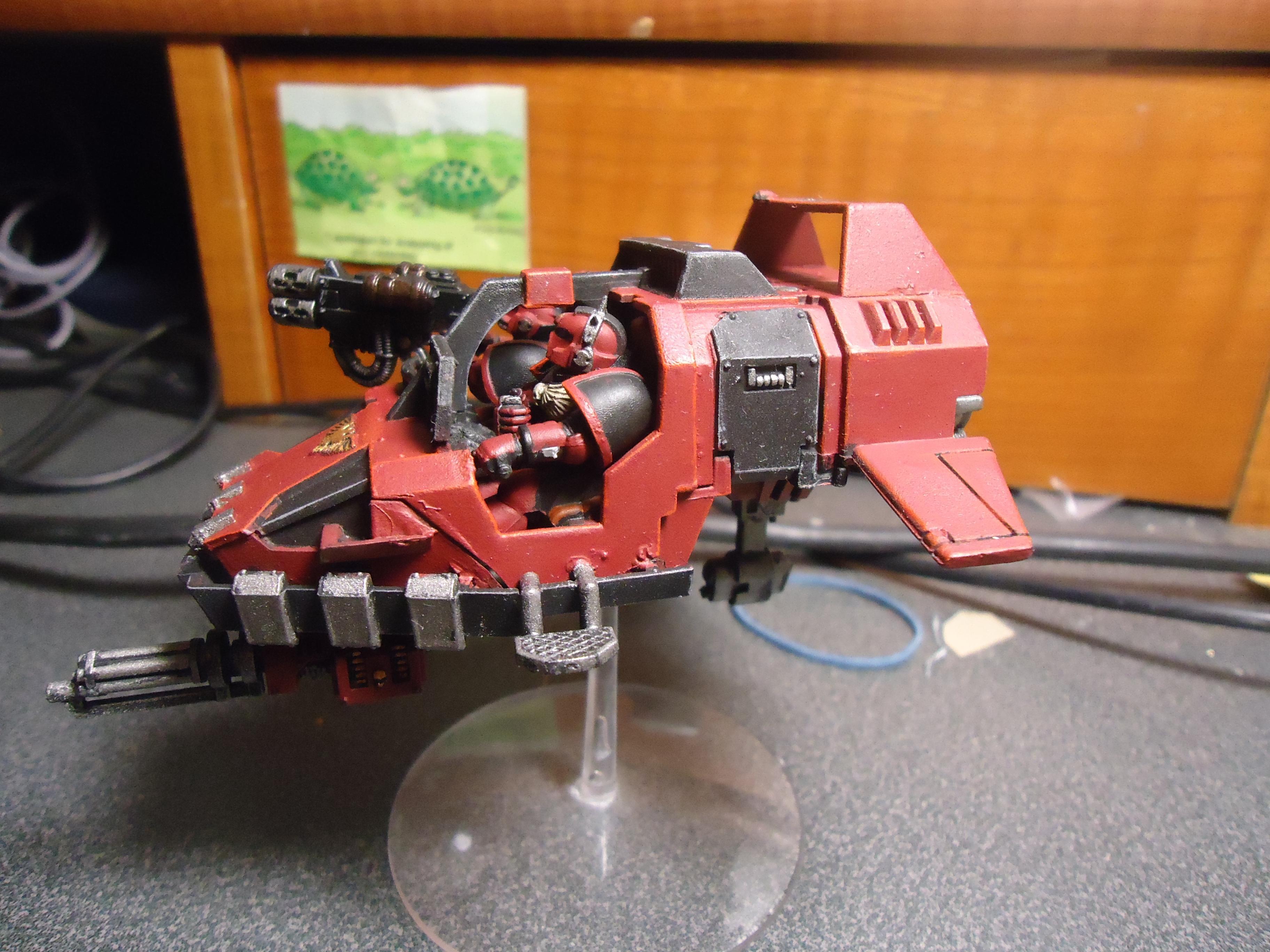 Assault Cannon, Grail Wardens, Land Speeder, Multi Melta, Space Marines