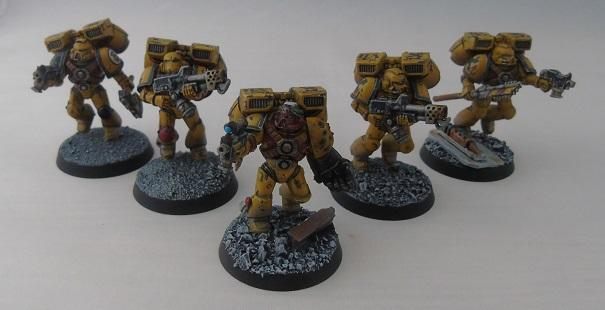 Adepus Astartes, Assault Marines, Battle Damage, City, Imperial Fists, Rubble, Ruins, Space Marines, Urban, Weathered, Yellow