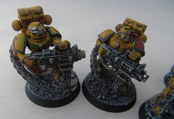 Adepus Astartes, Battle Damage, City, Devastator Marines, Imperial Fists, Rubble, Ruins, Space Marines, Urban, Weathered, Yellow