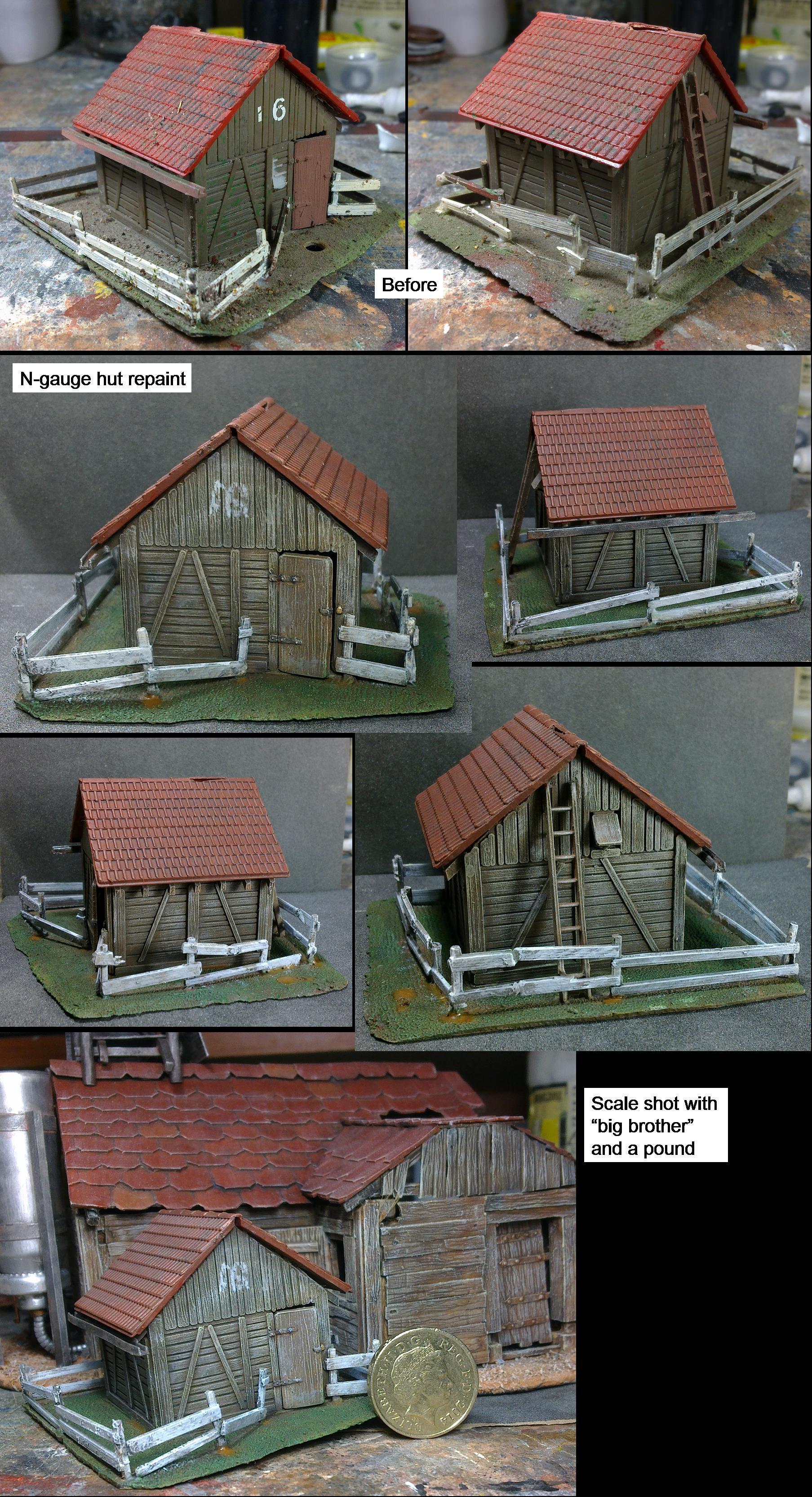 N-gauge hut re-paint