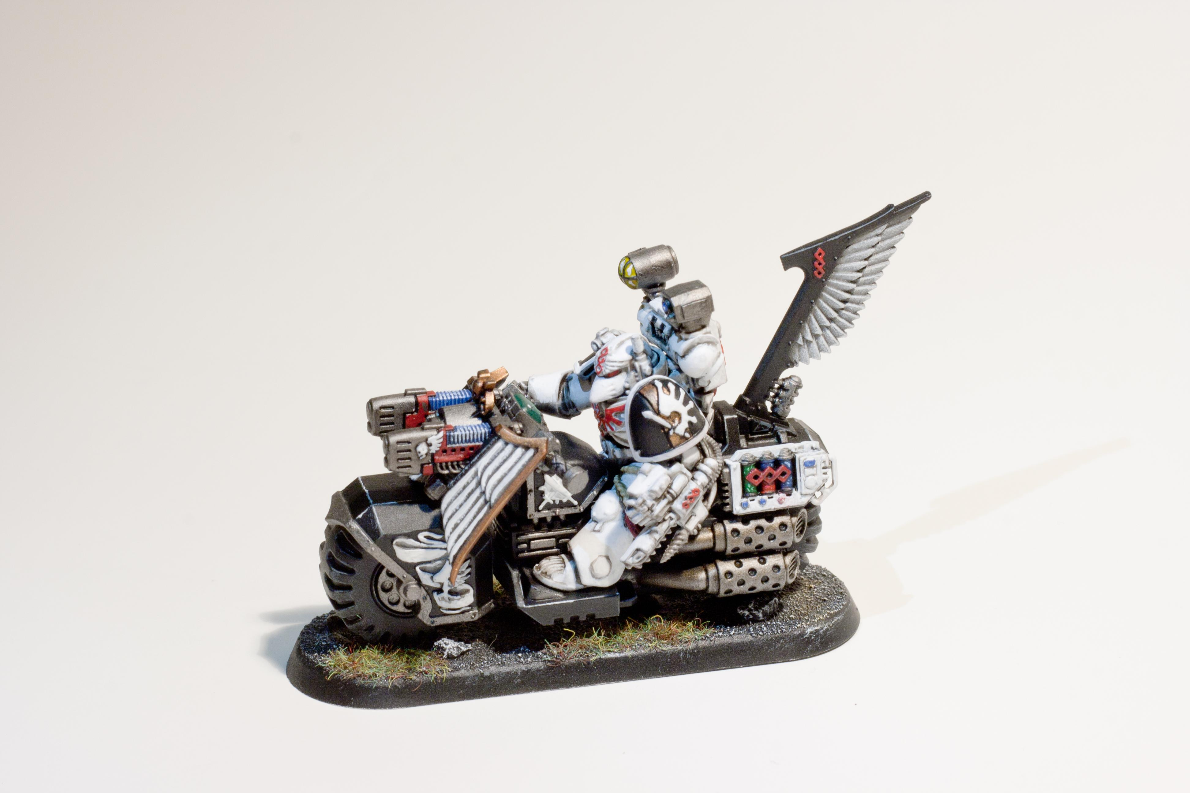 Apothecary, Command Squad, Dark Angels, Ravenwing, Space Marines, Warhammer 40,000