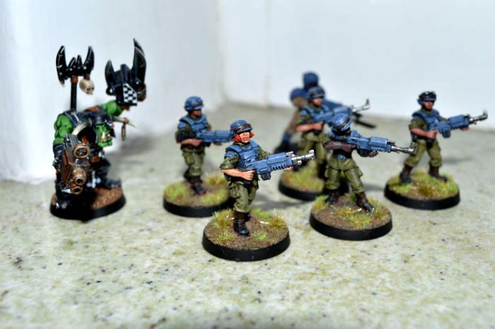 Astra Militarum, Cadians, Female Guard, Female Soldier, Imperial Guard, Orks