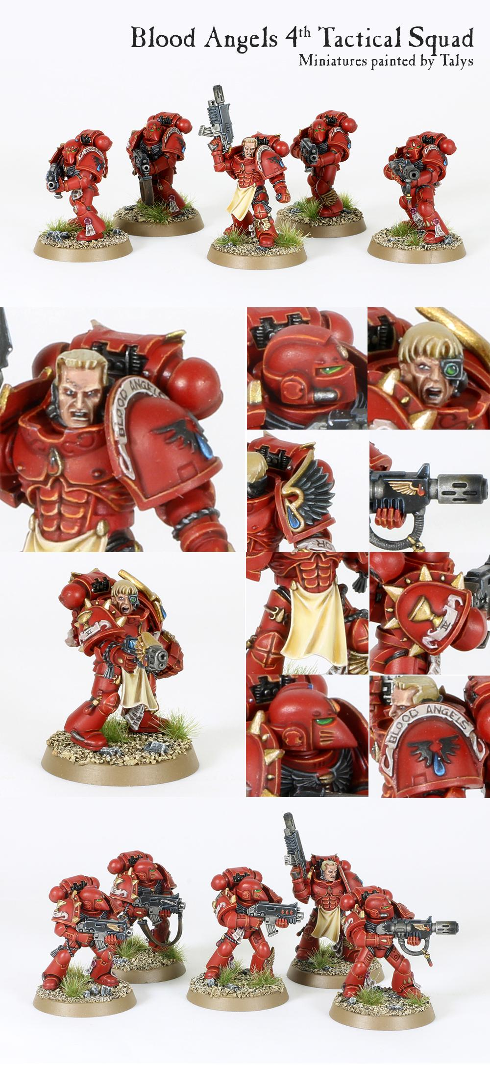Blood Angels, Bolter, Meltagun, Power Armour, Space Marines, Tactical, Warhammer 40,000