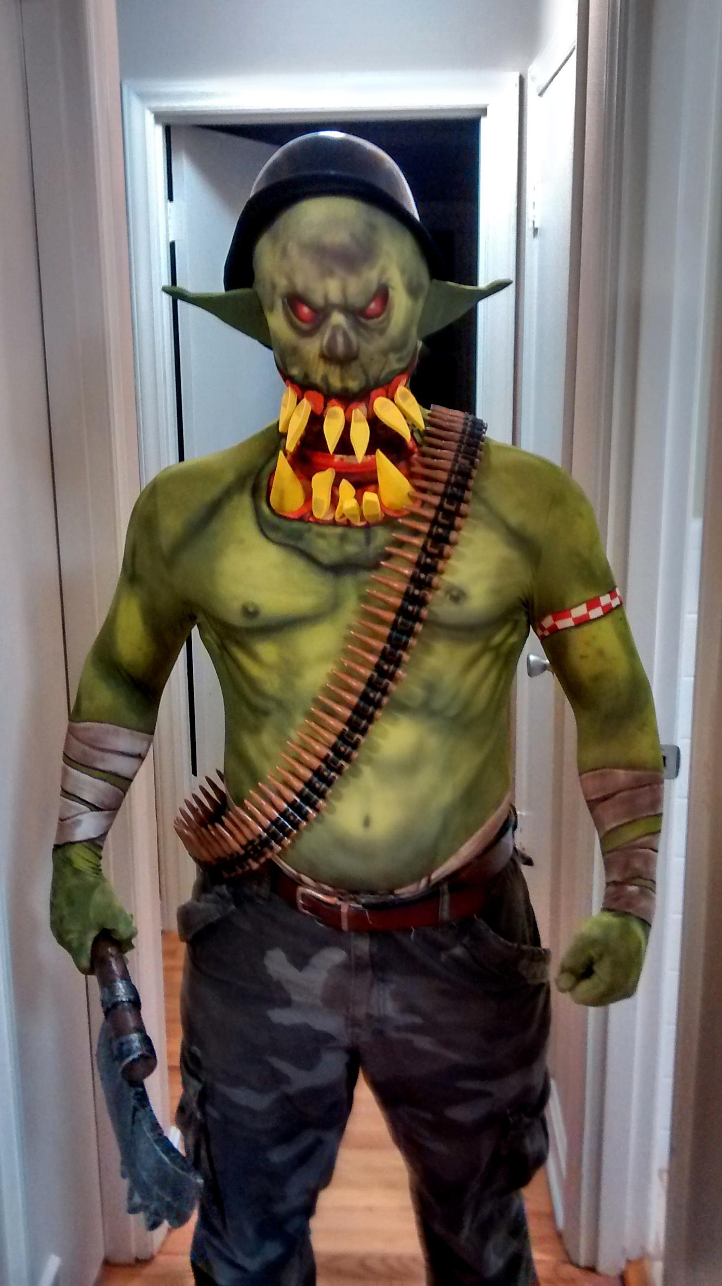 Choppa, Costume, Halloween, Orks, Warhammer 40,000