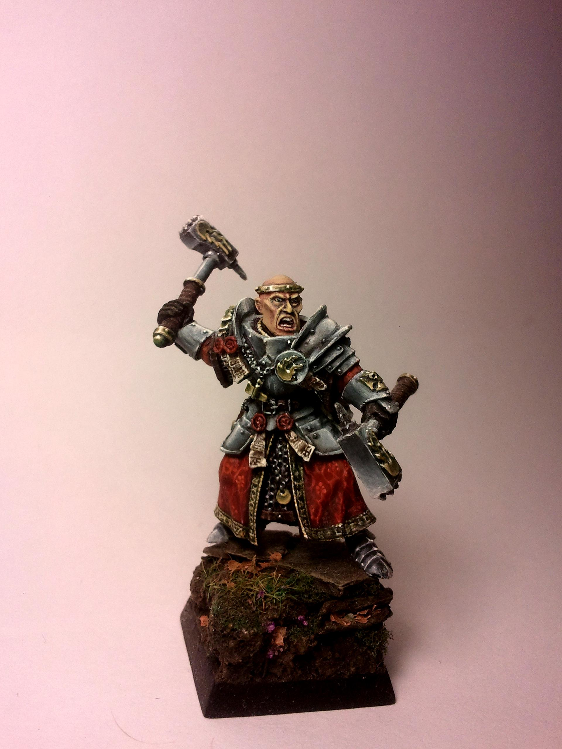 Age Of Sigmar, Empire, Freehand, Non-Metallic Metal, Priest, Scenic, Warhammer Fantasy, Warrior Priest