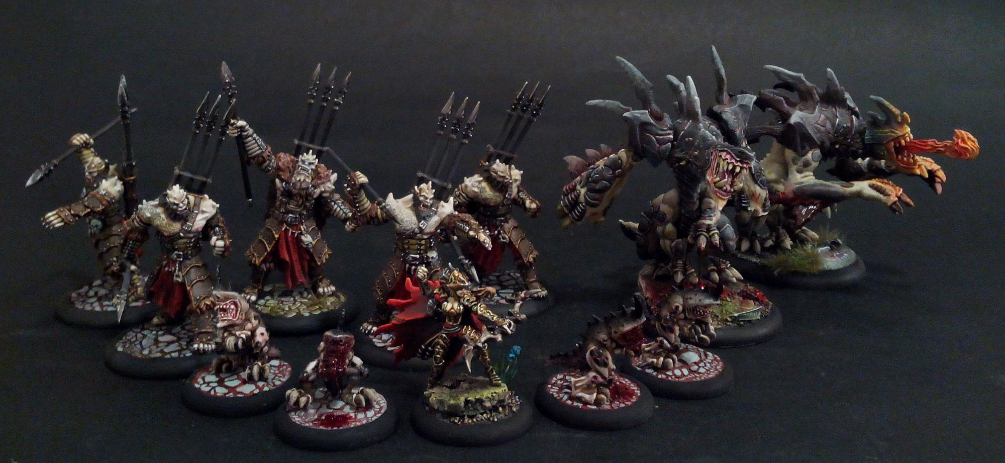 Blood, Hordes, Legion Of Everblight, Object Source Lighting, Warbeast, Warmachine