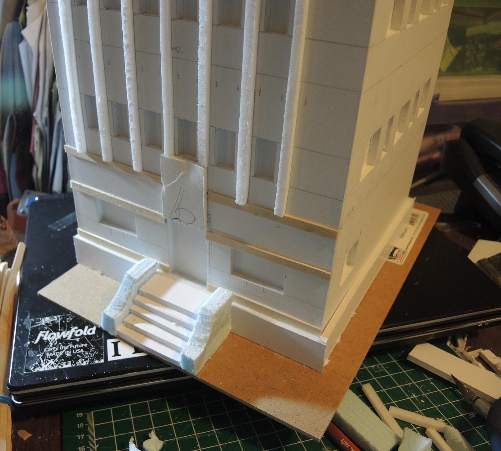 Buildings, Commission, Commissioned, Details, Game Table, Infinity, Road, Ruins, Scratch Build, Terrain, Waaazag, Warhammer 40,000, Work In Progress