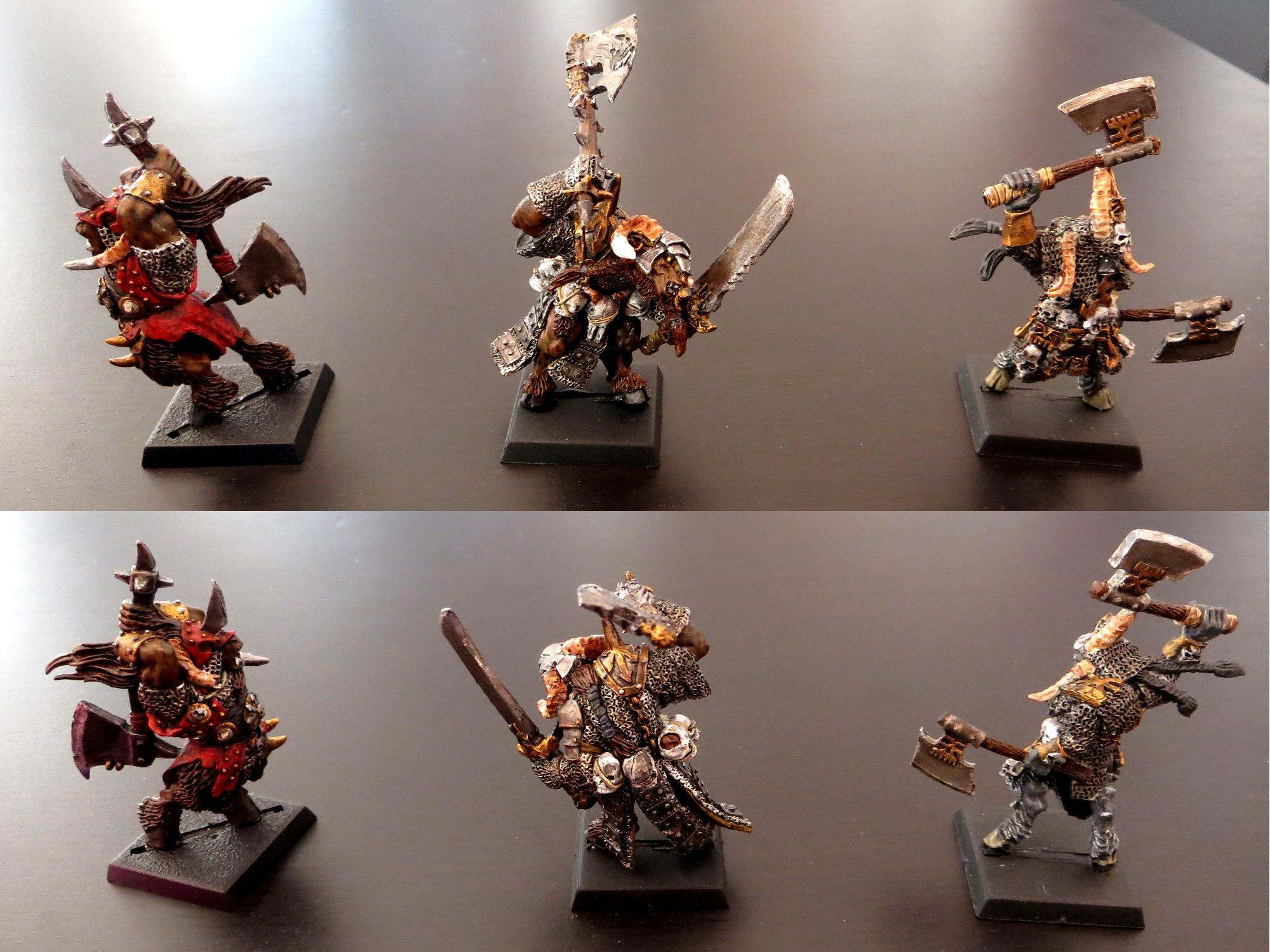 Beastmen, Bestigor, Chaos, Hero, Korngor, Mordheim, Warband