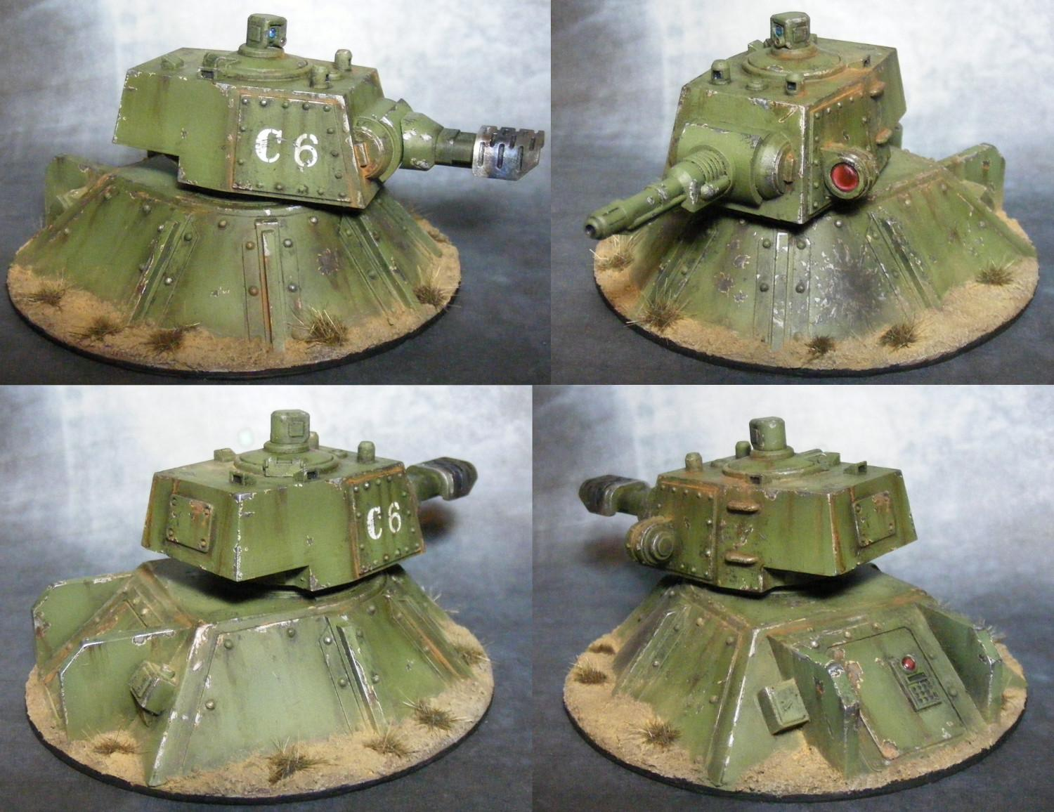 Emplacement, Imperial Guard, Scratch Build, Weathered