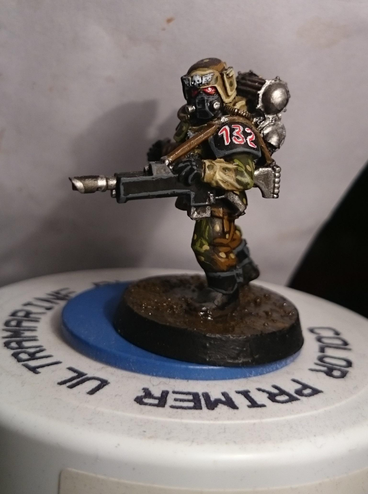 Guard with grenade front