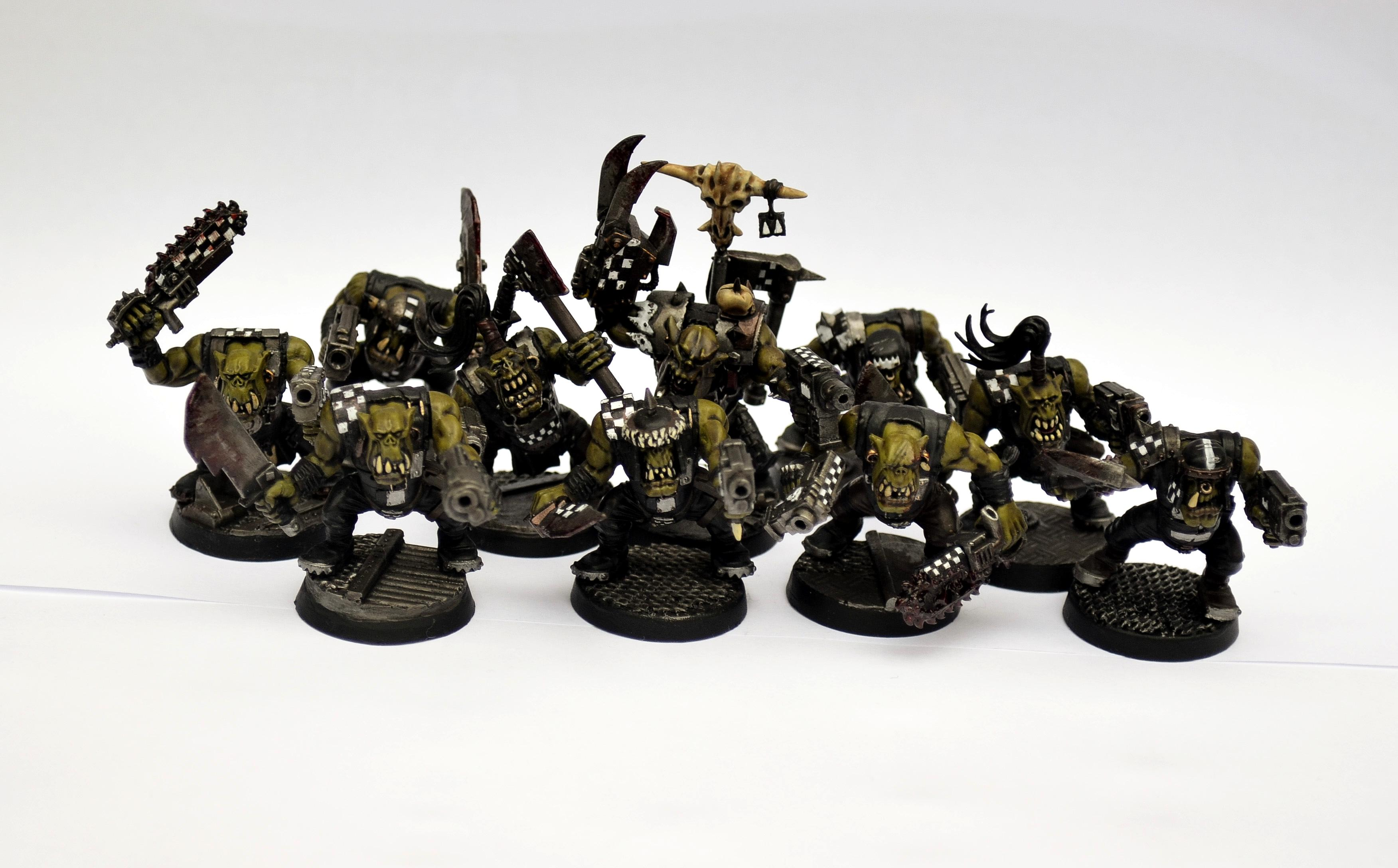 Blood, Boy, Brutal, Burna Boyz, Checks, Conversion, Dark, Dirty, Dust, Dusty, Goffs, Grime, Hive World, Industrial, Mean, Mob, Nob, Orks, Power Klaw, Realism, Realistic, Rust, Rusty, Slugga Boyz, Waaagh, Waaagh Gorbash, Warboss, White