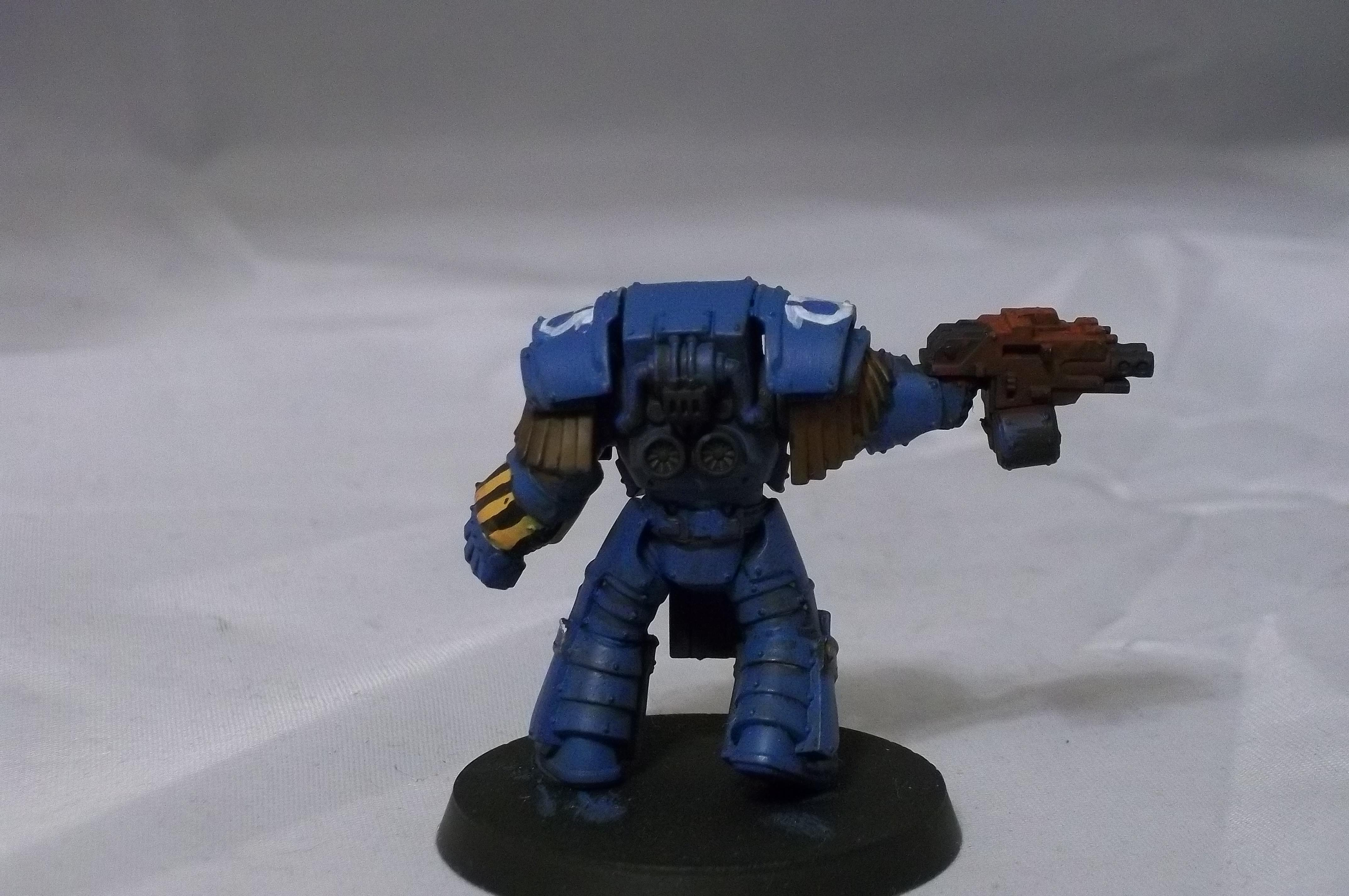 Betrayal At Calth, Retro, Terminator Armor, Ultramarines, Work In Progress