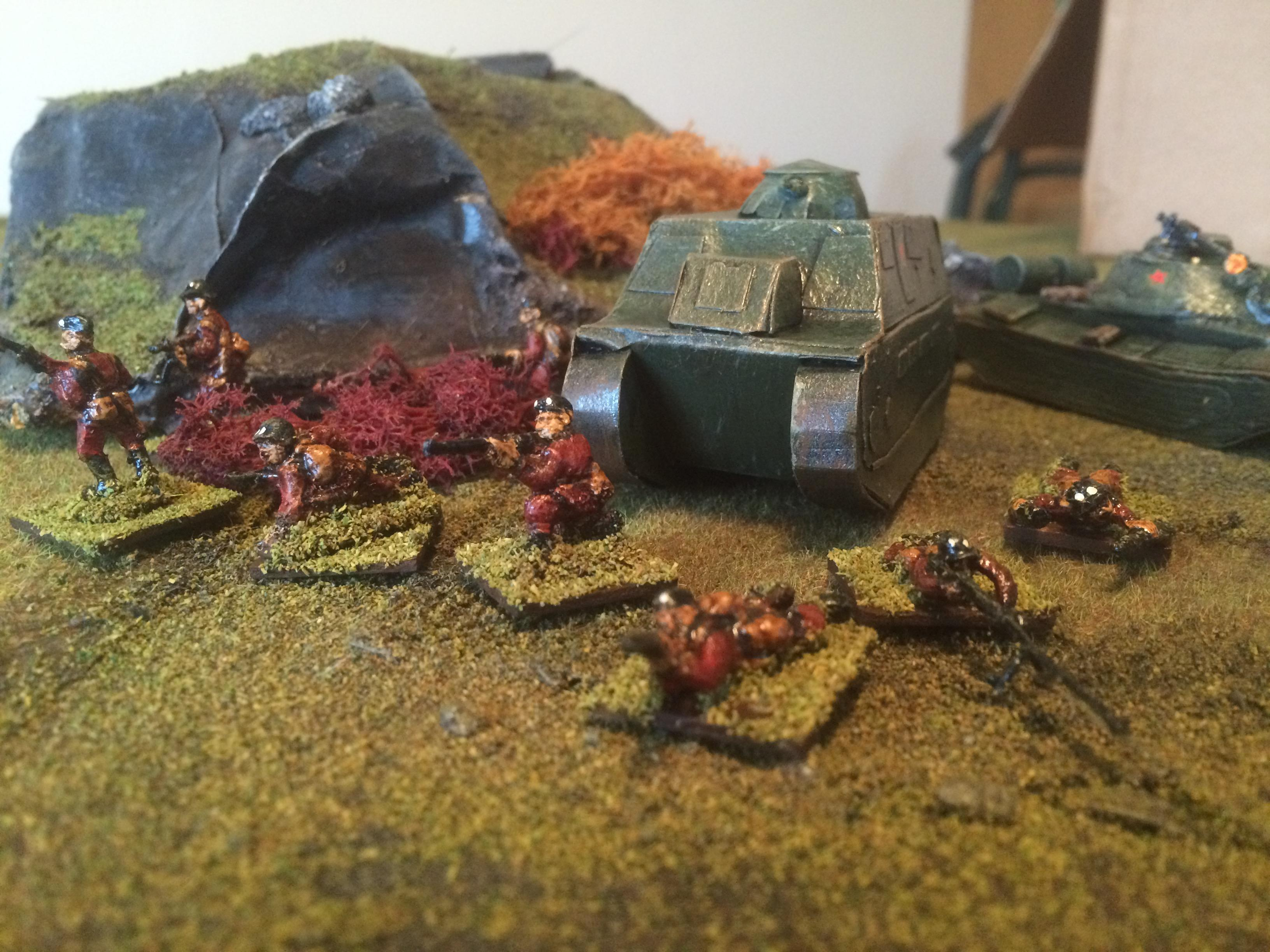 APC and infantry