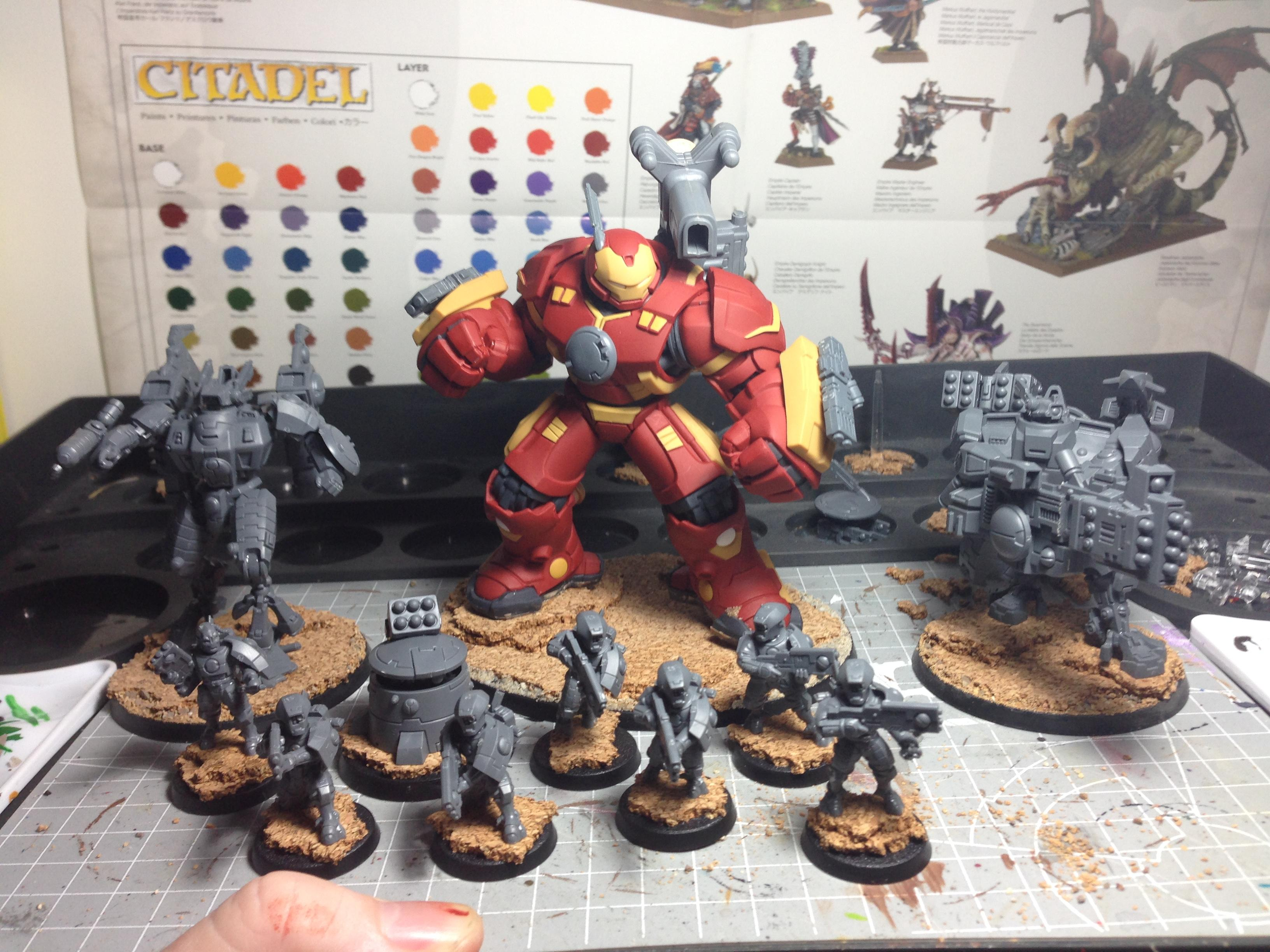 Ghostkeel, Hulkbuster, Iron Man, Tau