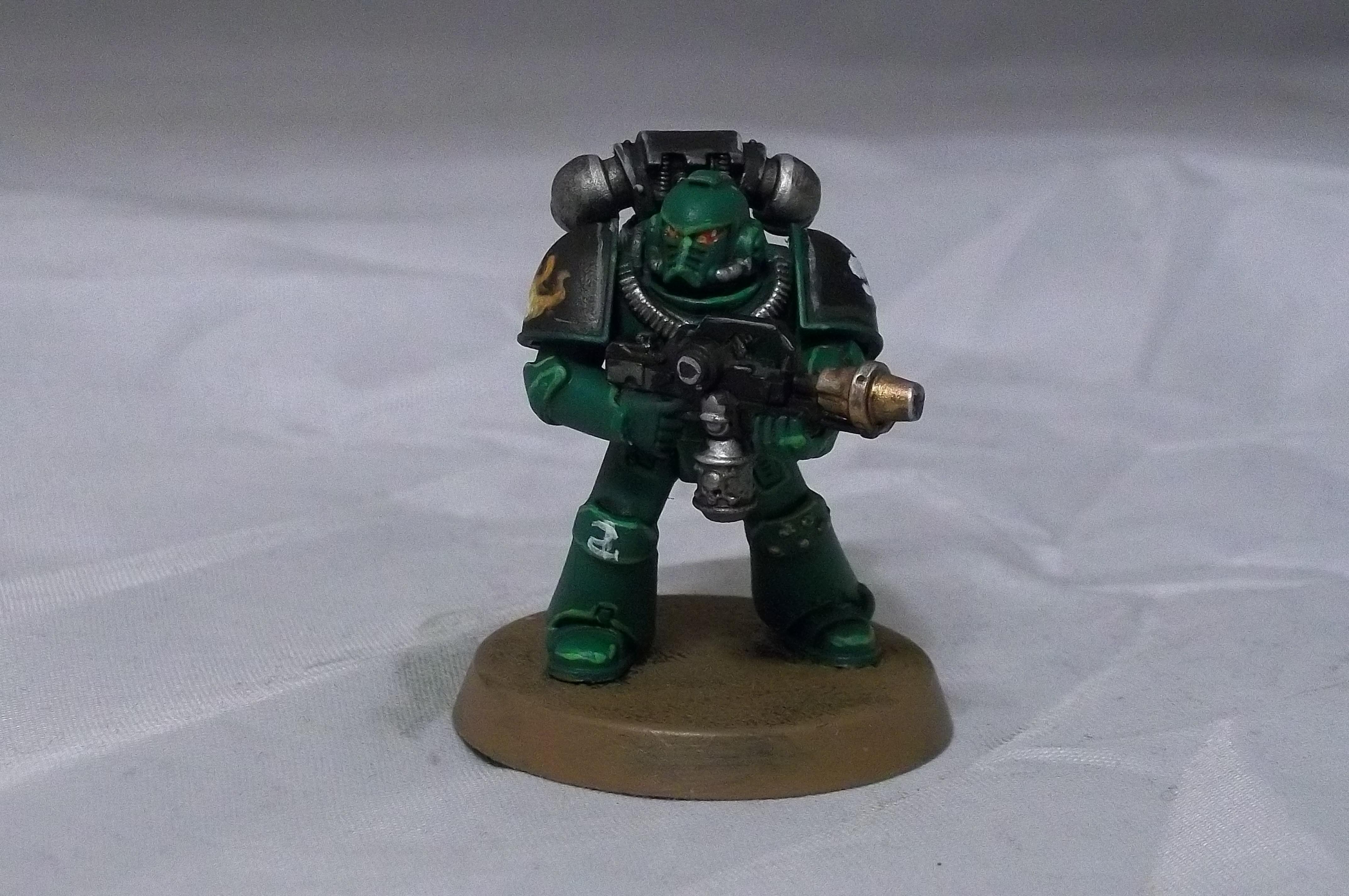 Flamer, Salamander, Space Marines, Tactical Squad