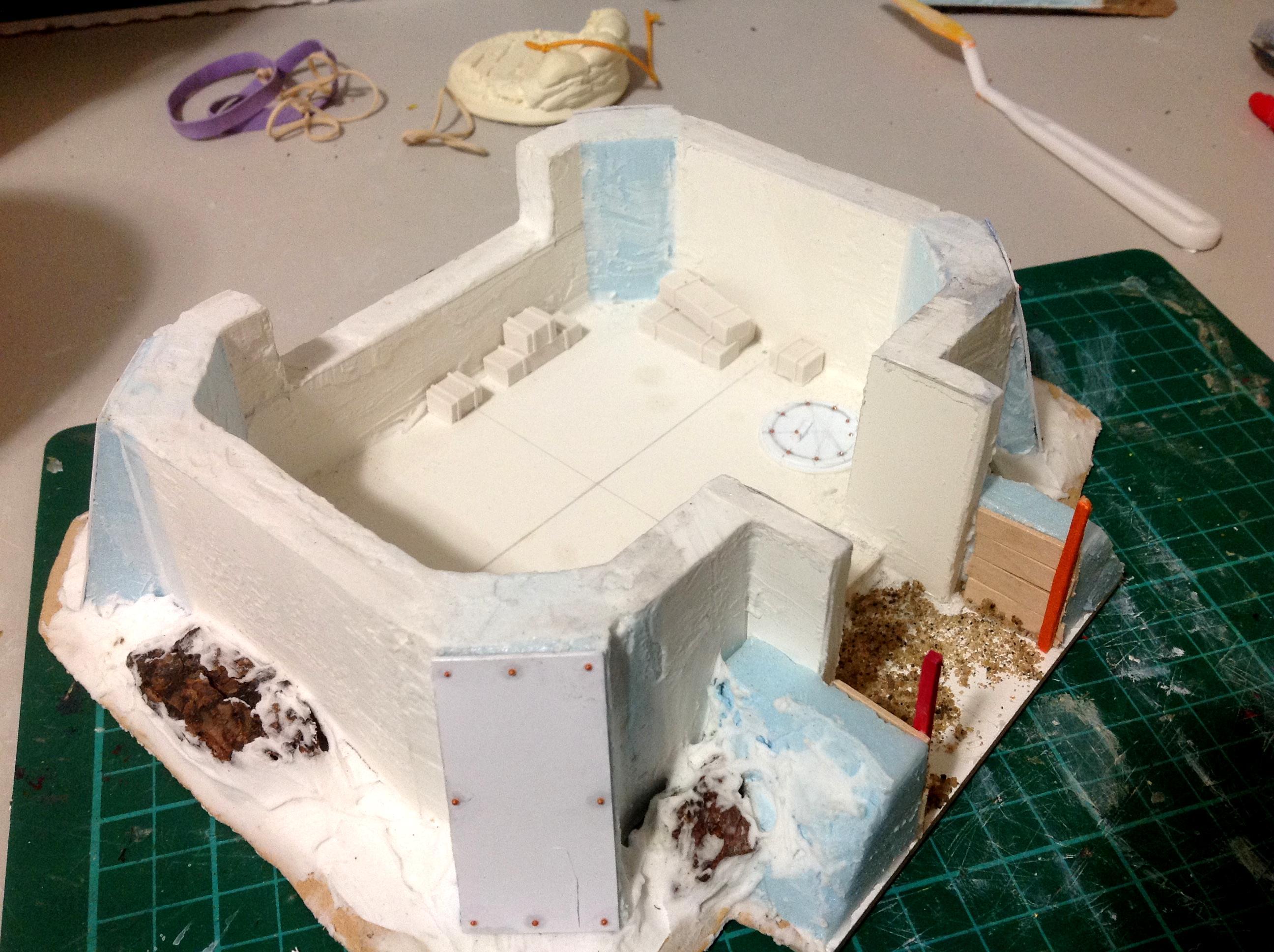 Bunker, Terrain, Trench, Work In Progress