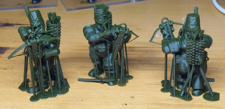 3d Printed, Acrylic Bases, Crossbows, Kow, Ogres, Shooters, Supports