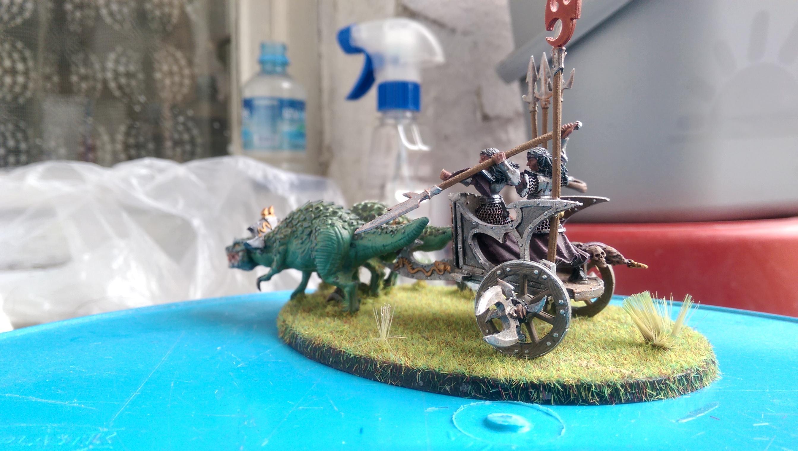 Chariot, Dark Elves, Diorama, Ghornd, Warhammer Fantasy