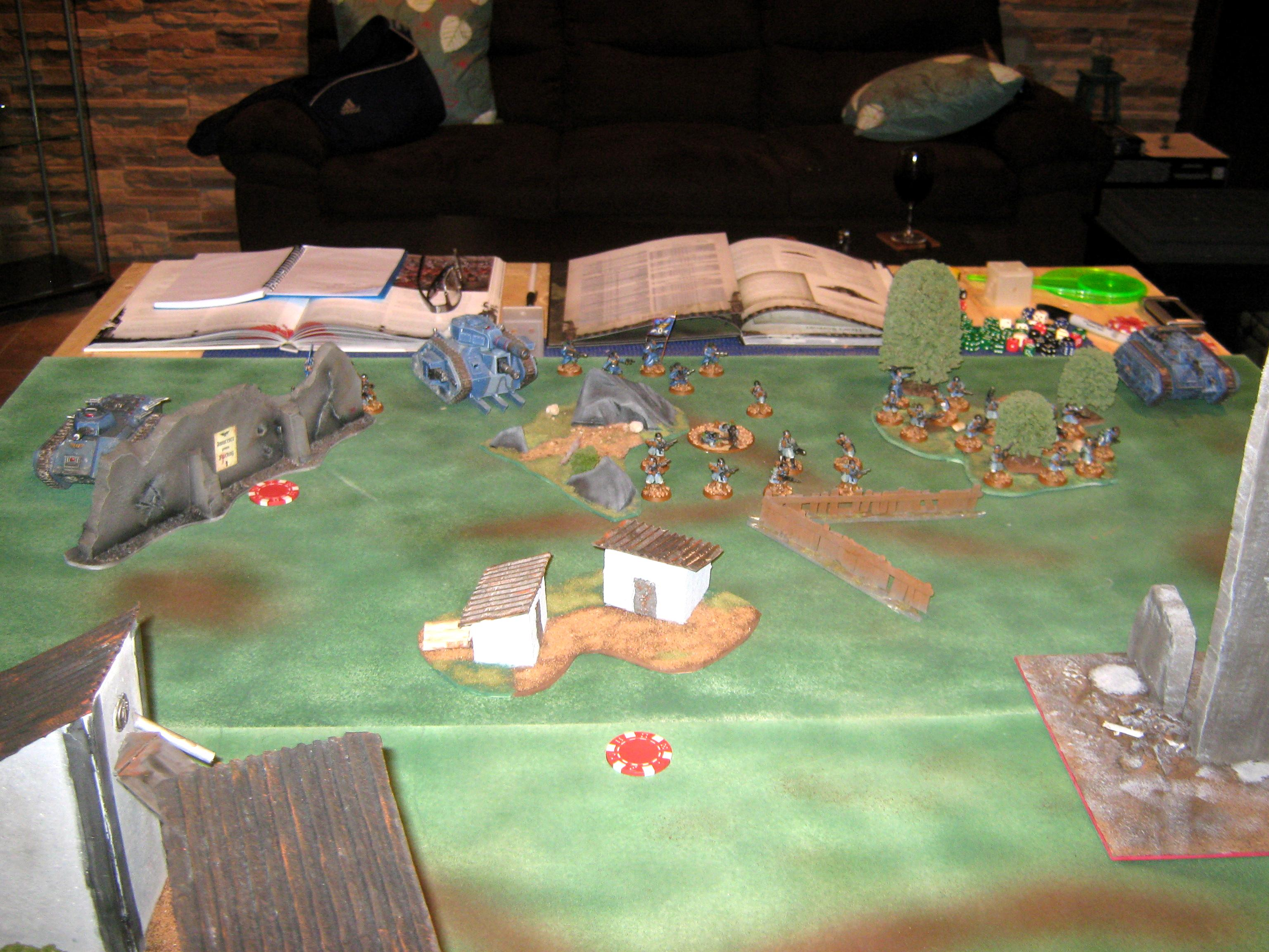 Astra Militarum, Battle, Battle Report, Diorama, Game, Imperial Guard, Imperium, In-game, Steel Legion, Warhammer 40,000, Warhammer Fantasy