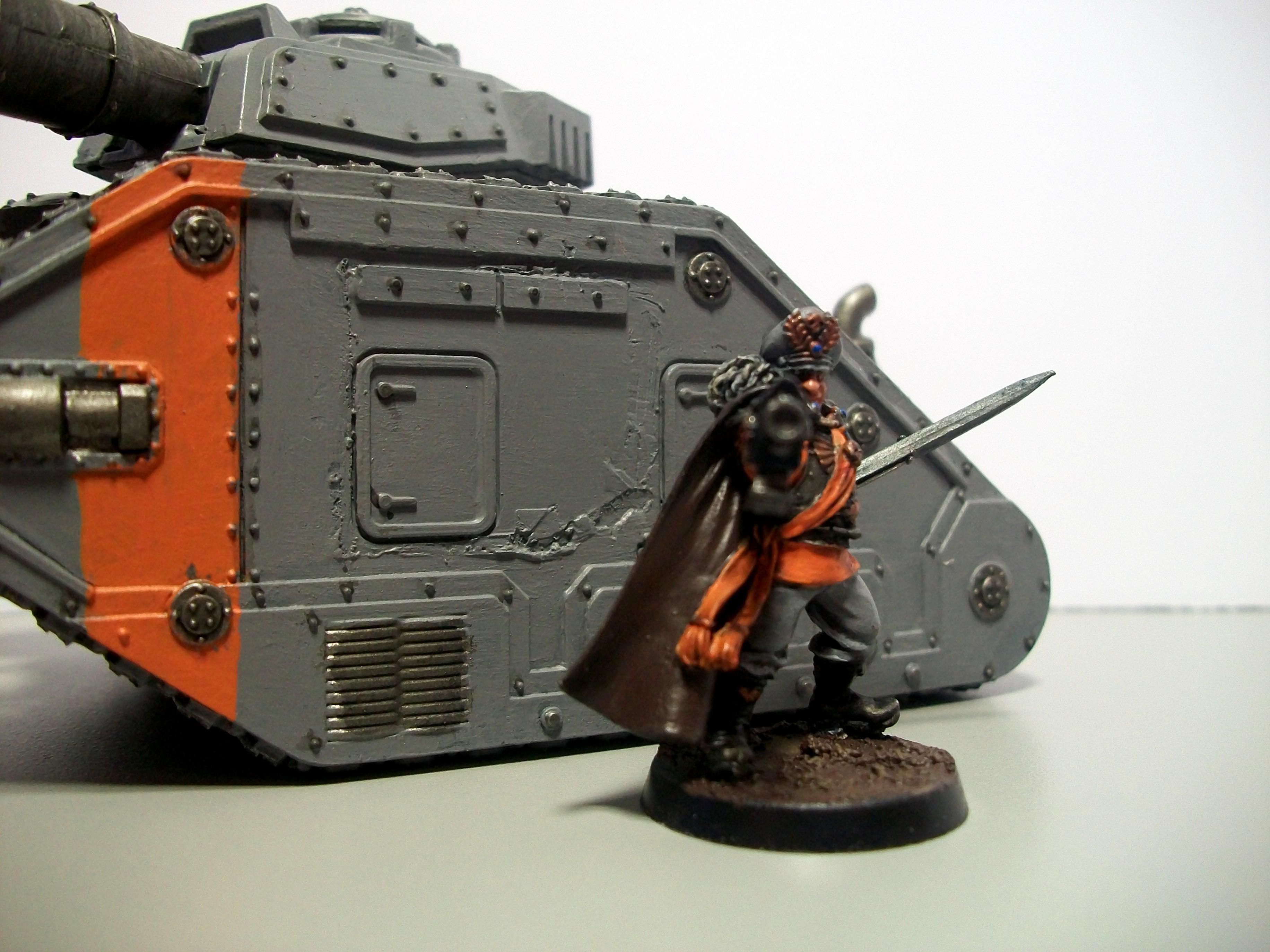 30k, Commissar, Grey, Leman Russ, Orange, Solar Auxilia