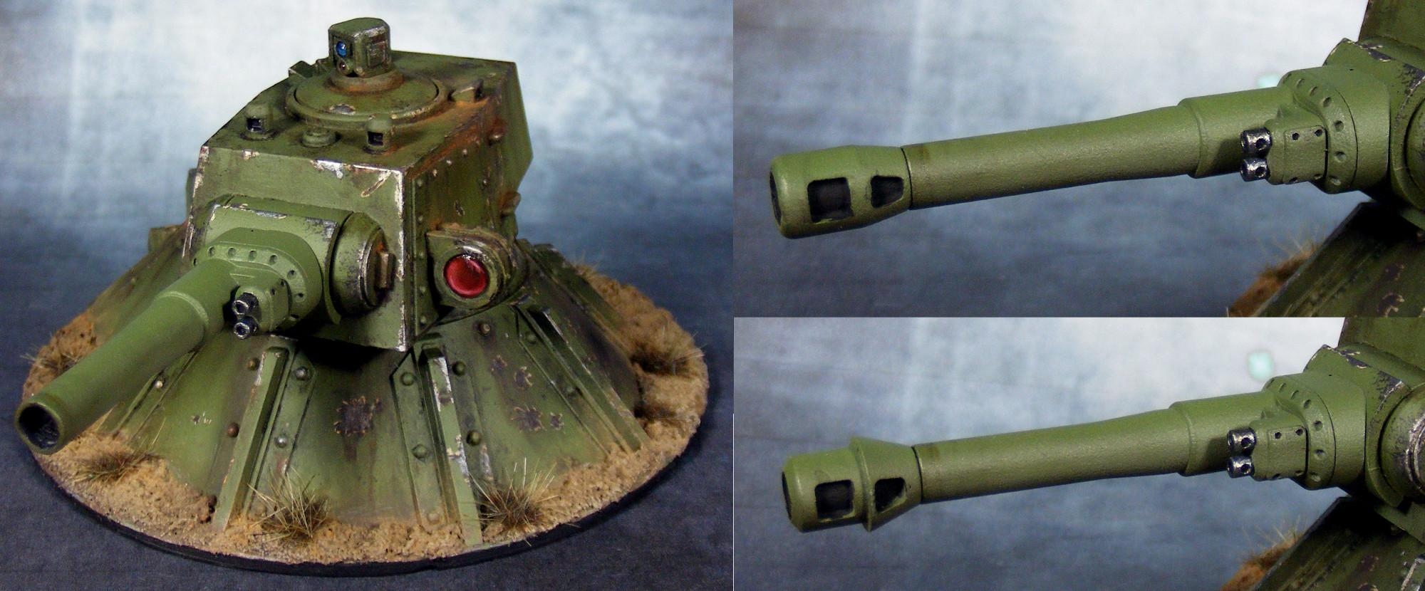 Emplacement, Genswick, Gun Turret, Imperial Guard, Resin, Scratch Build, Warhammer 40,000