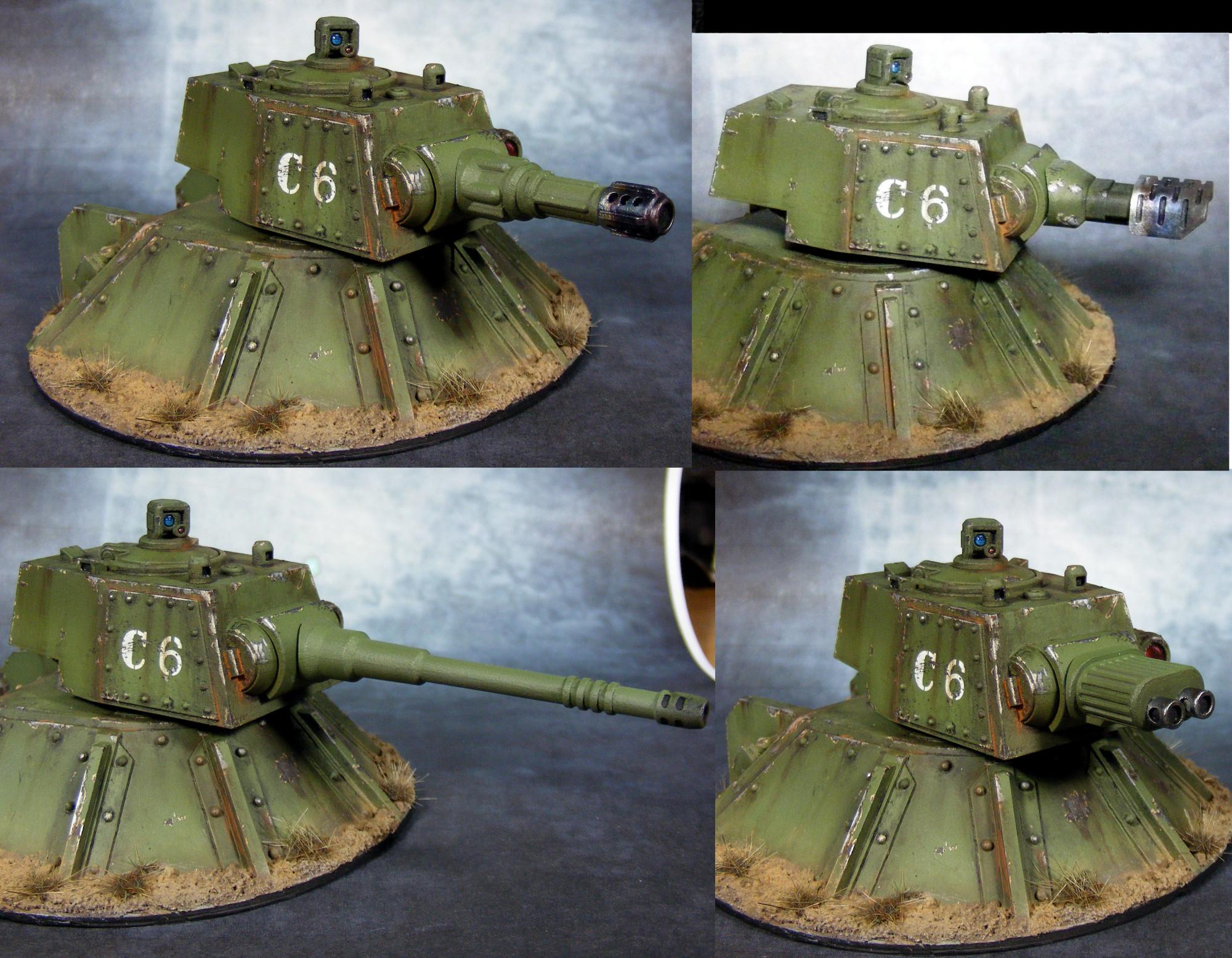 Artillery, Emplacement, Genswick, Gun Turret, Imperial Guard, Resin, Scratch Build, Turret, Vengence Weapons Battery, Warhammer 40,000