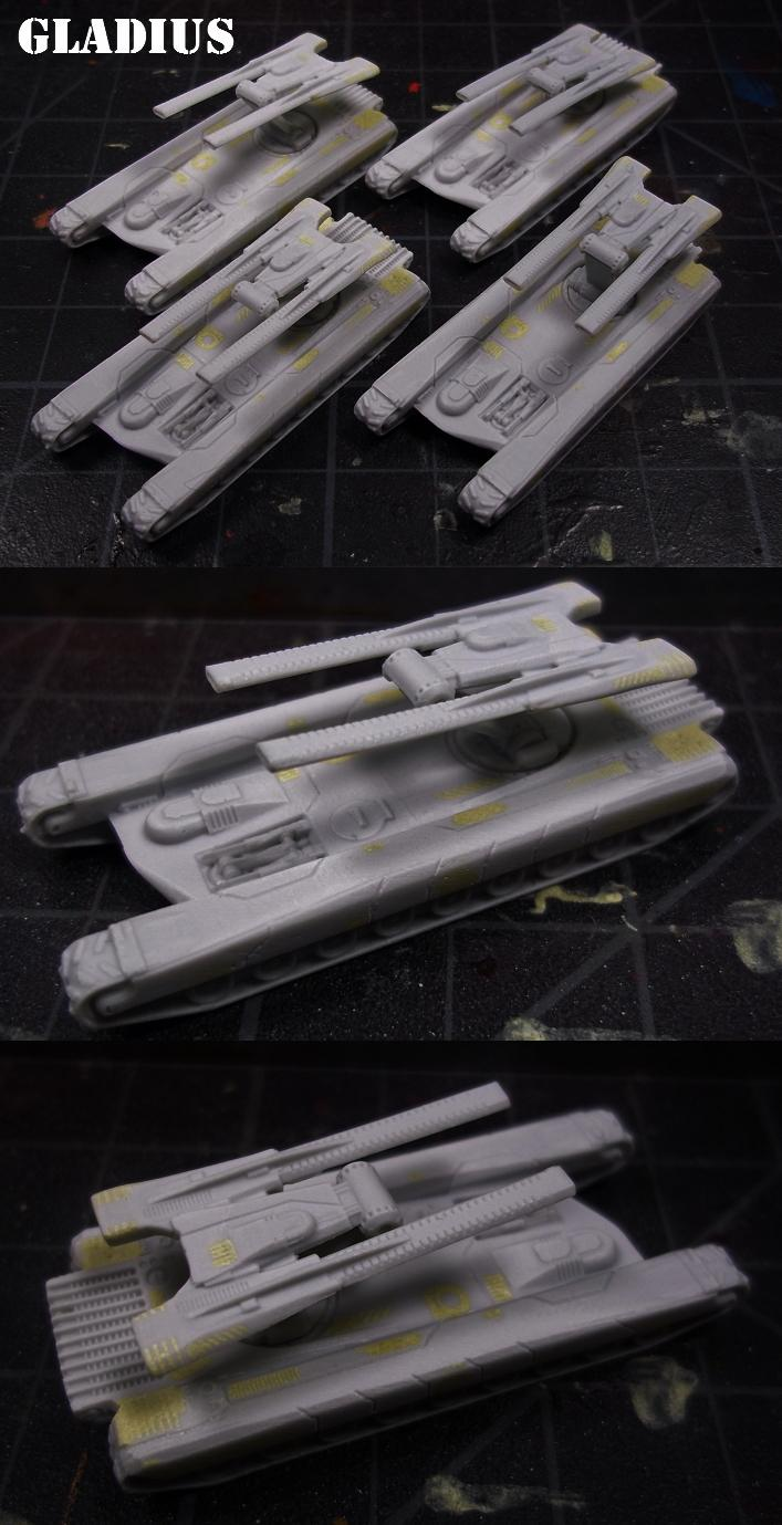 Army, Dropship, Dropzone Commander, Dzc, Gladius, Tank, Ucm, United Colonies Of Mankind, Work In Progress