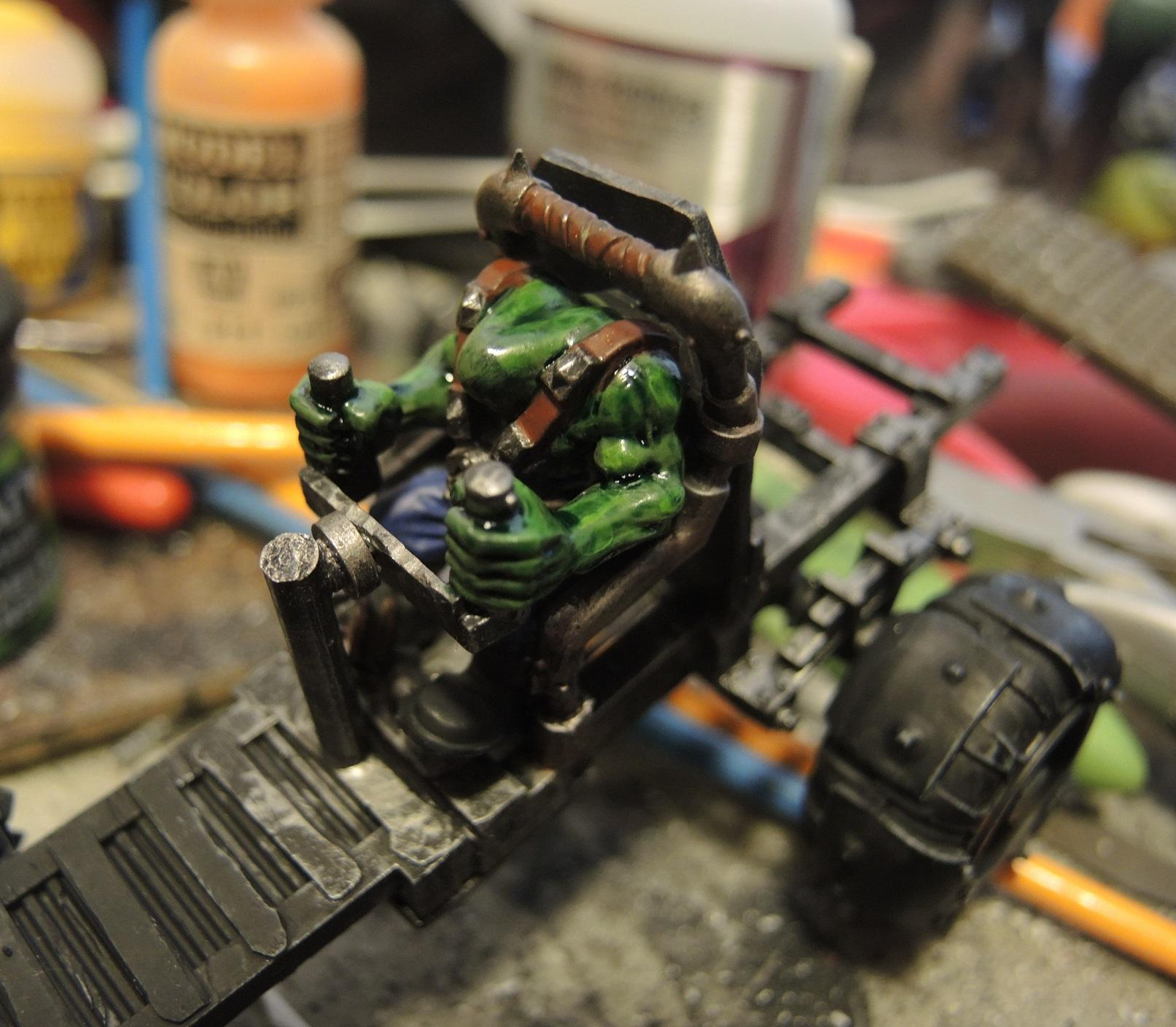Badmoons, Boy, Boys, Dashboard, Deathskulls, Hordes, Mobs, Orks, Waaazag, Warbuggy, Warhammer 40,000, Work In Progress