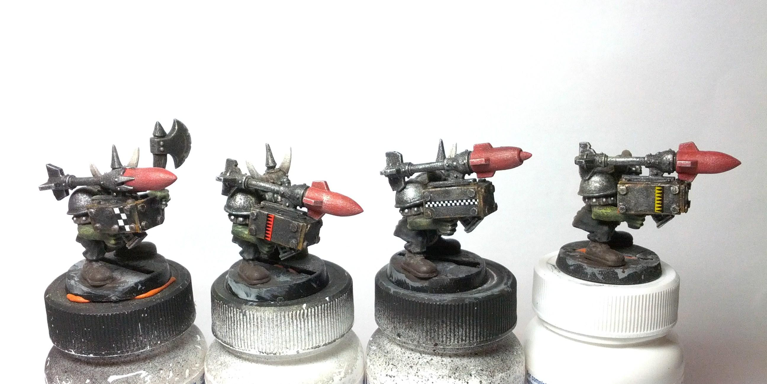 Boy, Custom, Orks, Rokkits, Work In Progress