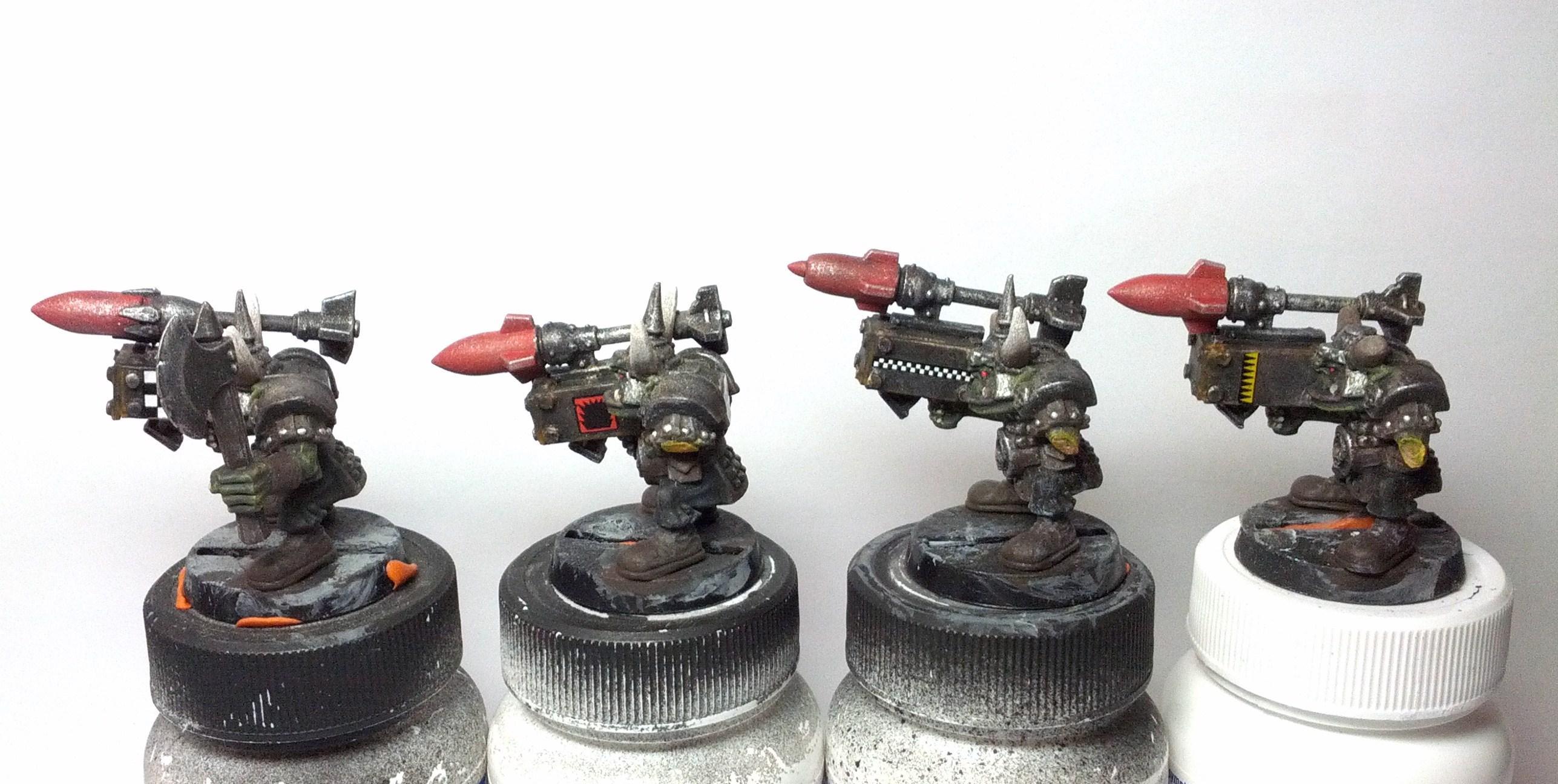 Boy, Custom, Orks, Rokkits, Work In Progress