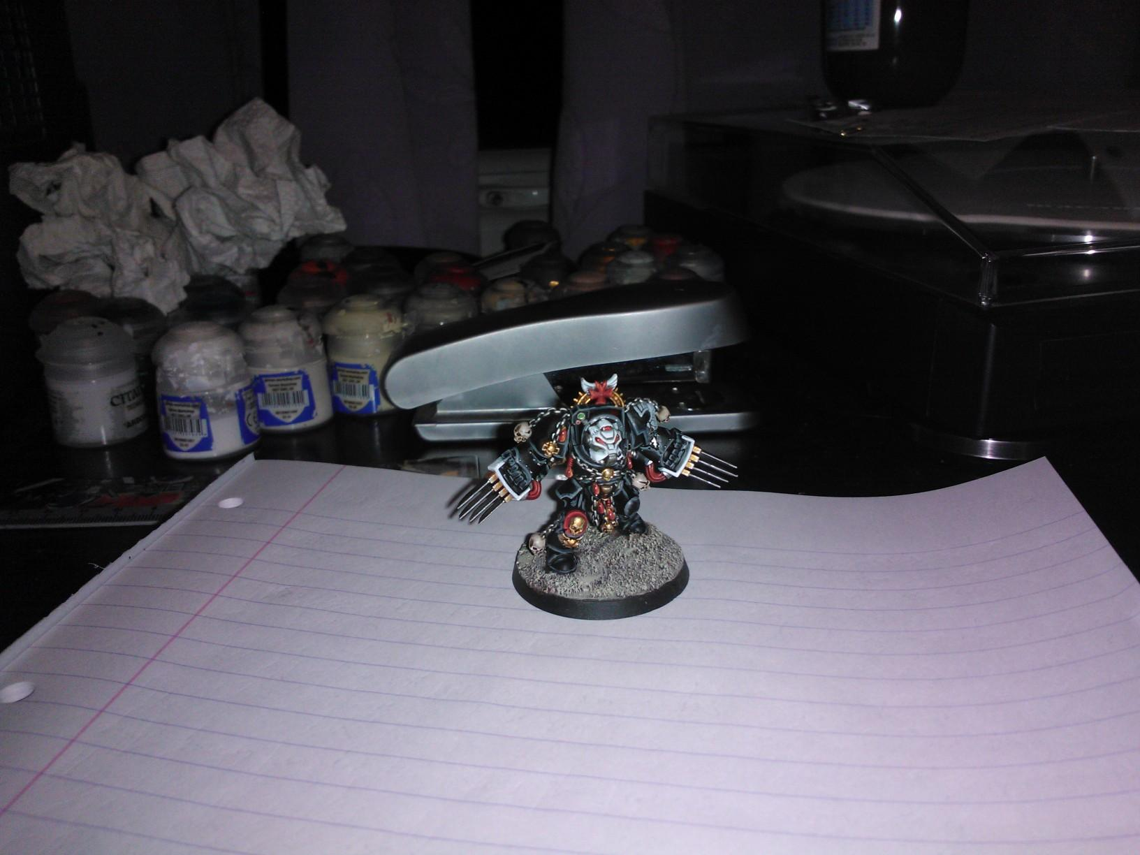 Assault, Black, Black Templars, Blanche, Blood Angels, Chainsword, Conversion, Forge World, Imperium, Lightning Claws, Space Hulk, Space Marines, Tactical Squad, Templars, Terminator Armor