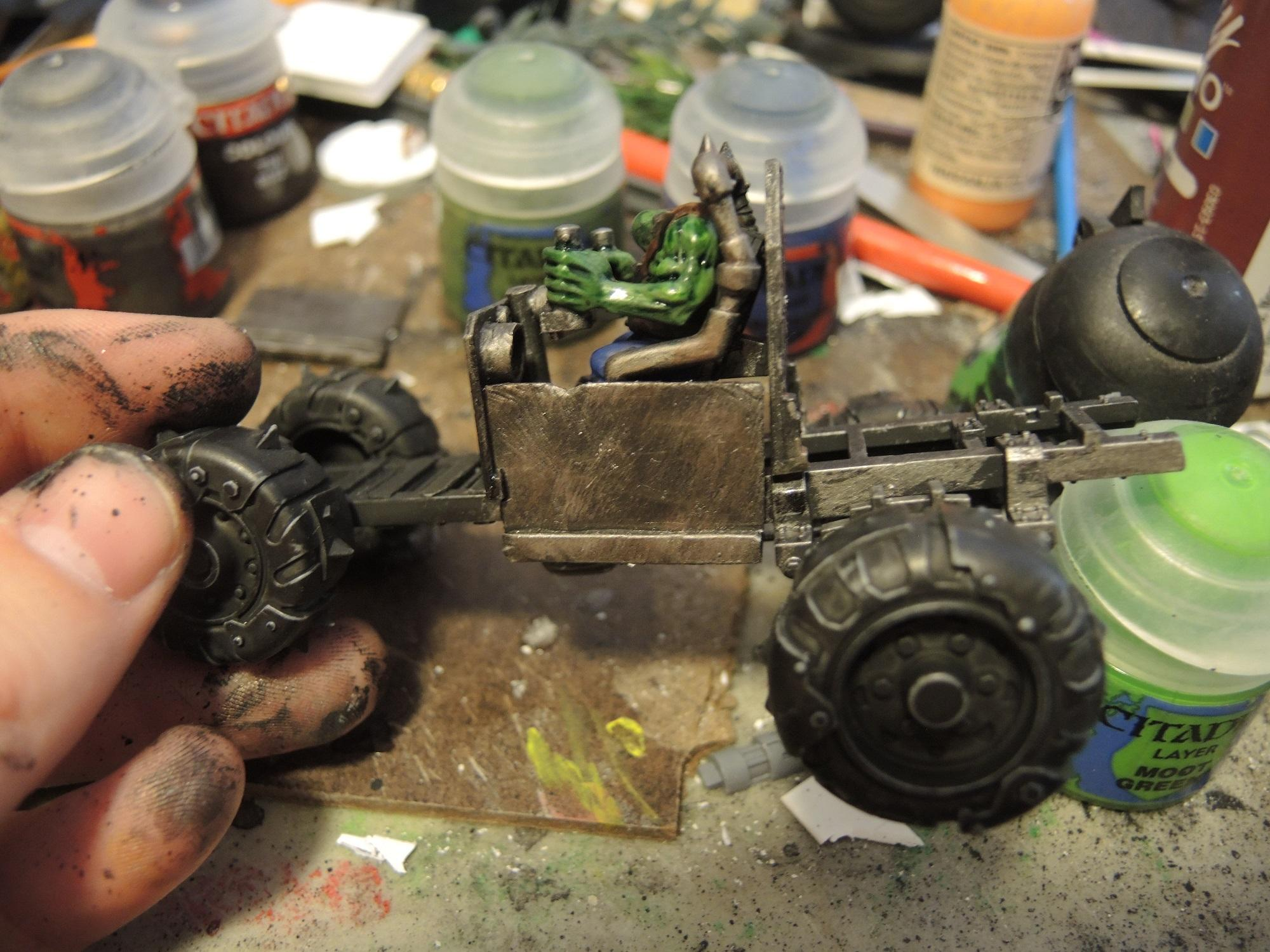 Buggy, Orks, Waaazag, Warhammer 40,000, Work In Progress