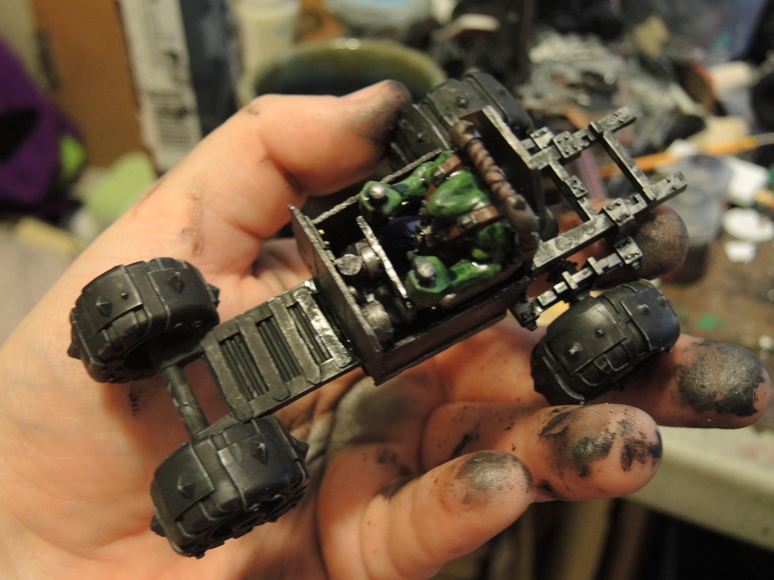 Buggy, Orks, Waaazag, Warhammer 40,000, Work In Progress