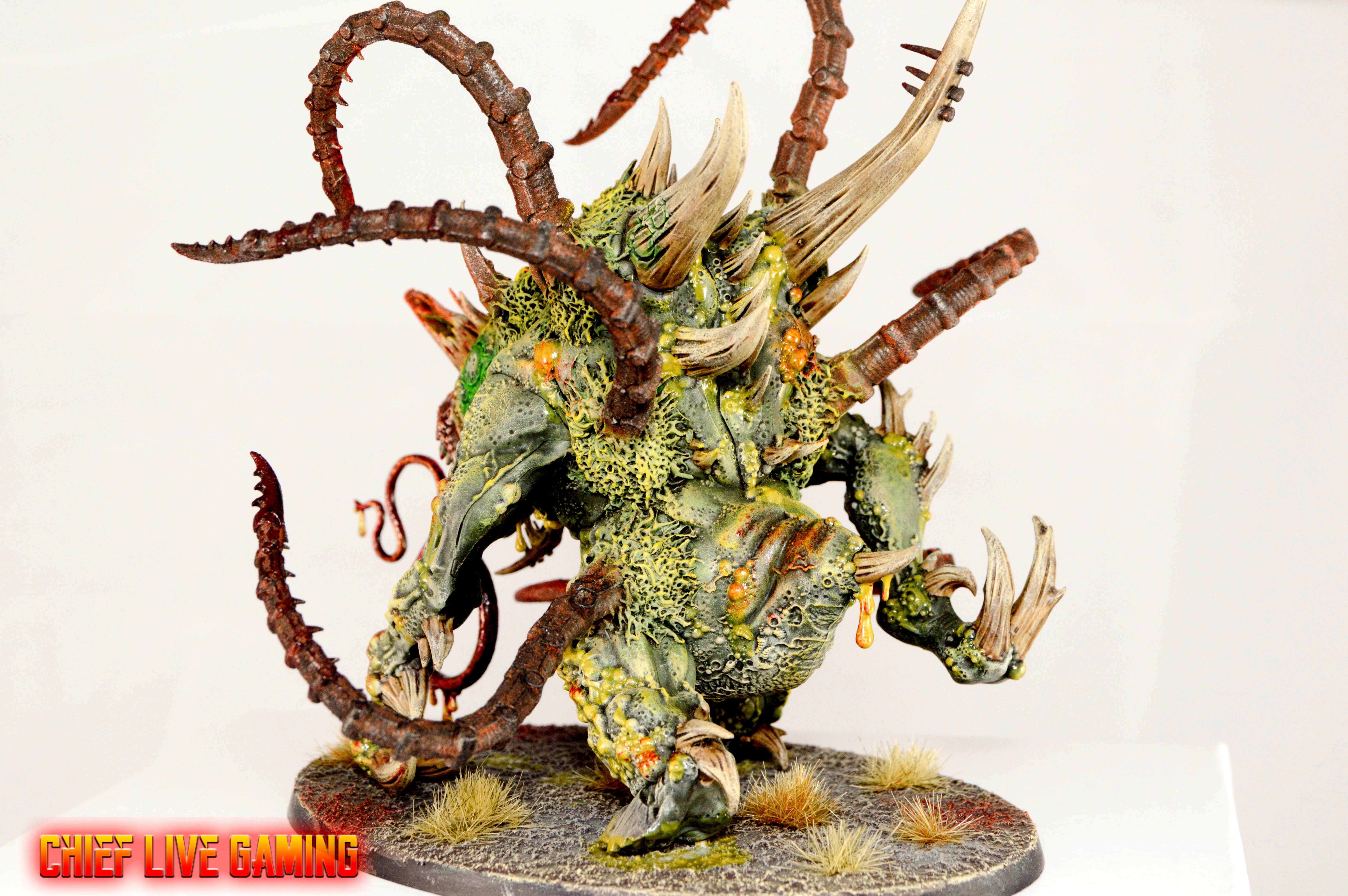 Chaos, Conversion, Cusom, Daemons, Greenstuff, Kitbash, Nurgle, Painting, Space Marines, Warhammer 40,000, Warhammer Fantasy