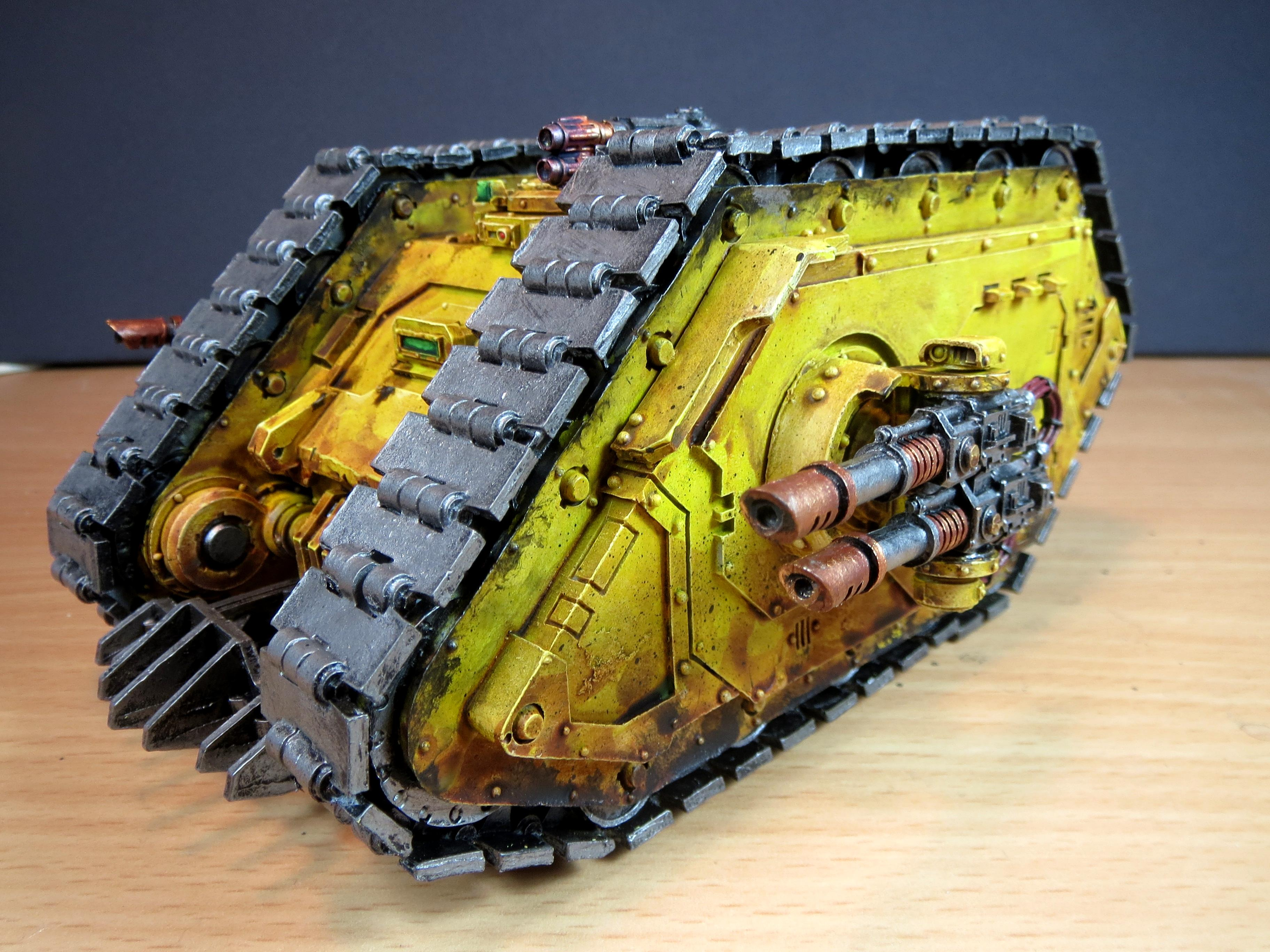 Fists, Forge World, Horus Heresy, Imperial, Imperial Fists, Land Raider, Weathered