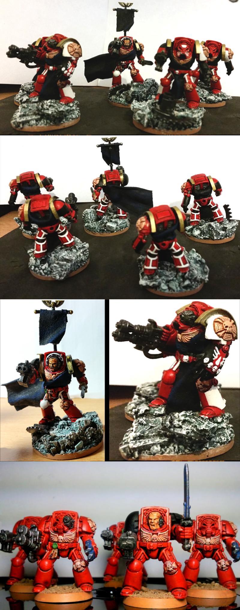 Blood Angels, Elite, Emperor, Kit Bash, Space Marines, Terminator Armor, Warhammer 40,000, Work In Progress