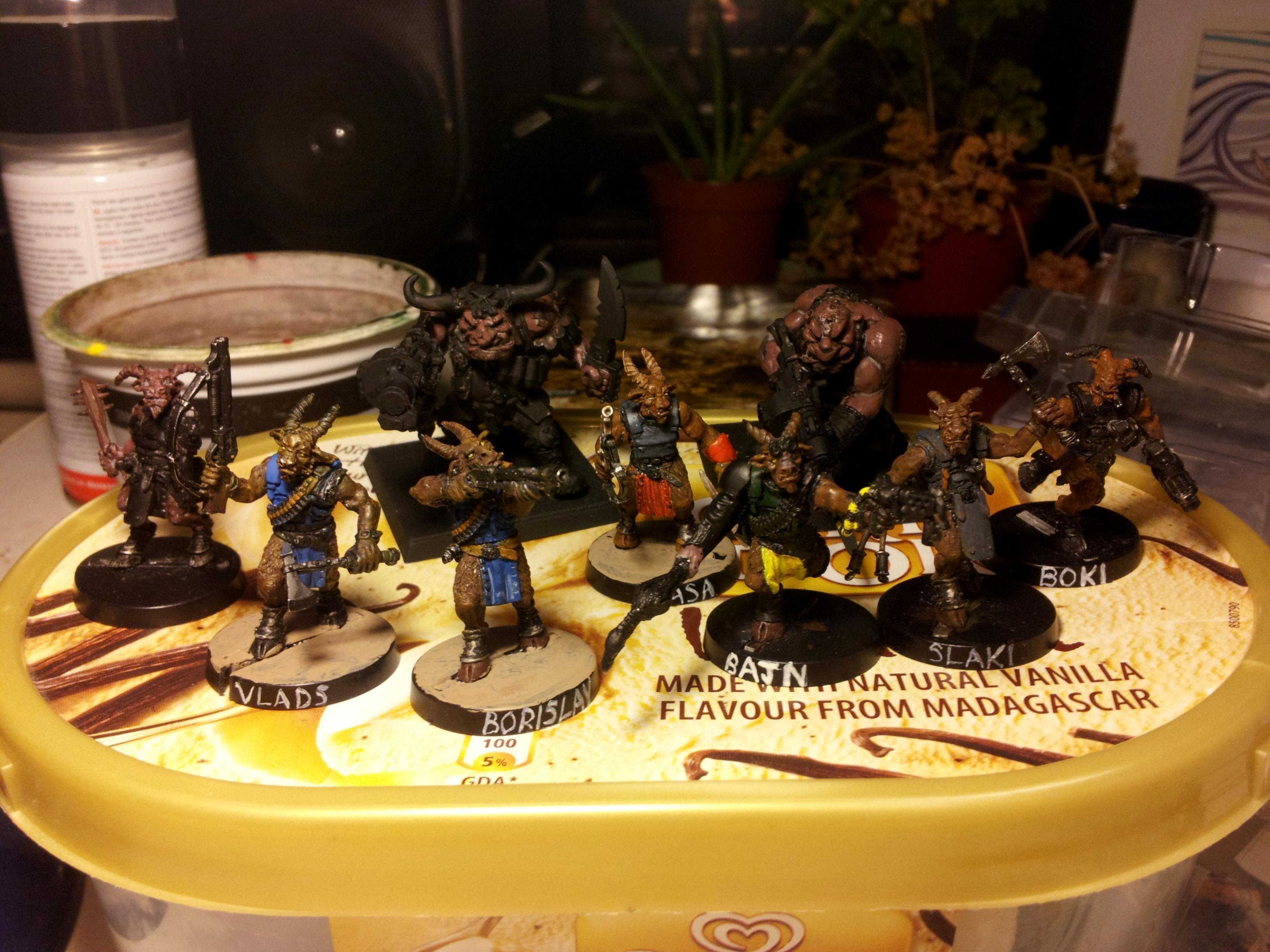 Beastmen, Gang, Inquisimunda, Necromunda, Vic, Victoria Miniatures, Warband
